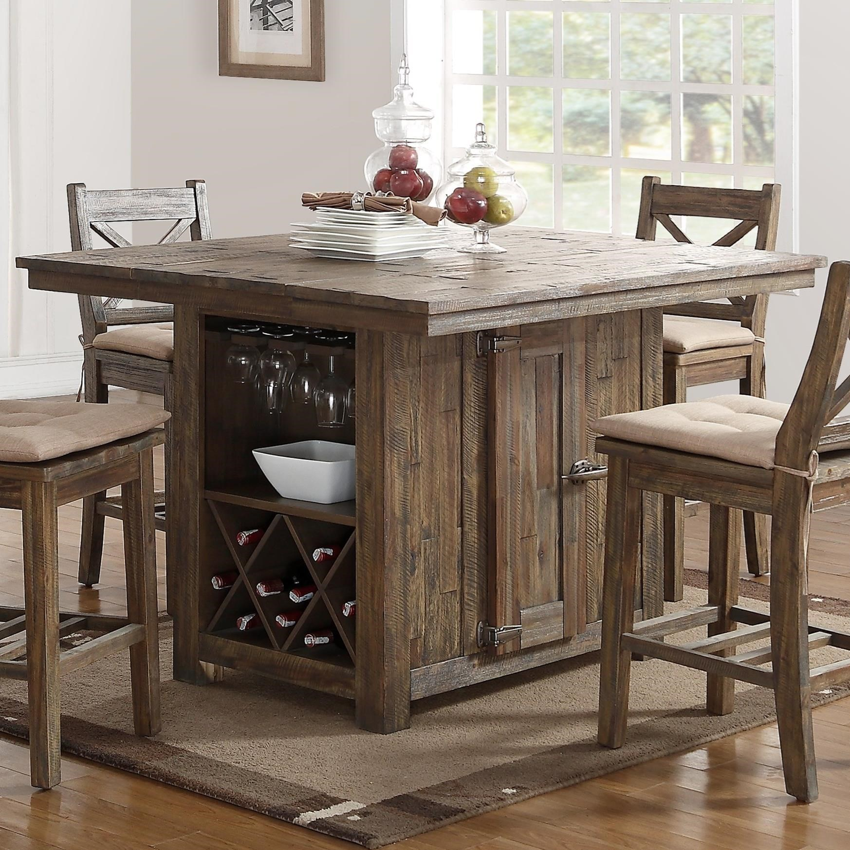 New classic tuscany park pub table with wine glass and for Classic home tables