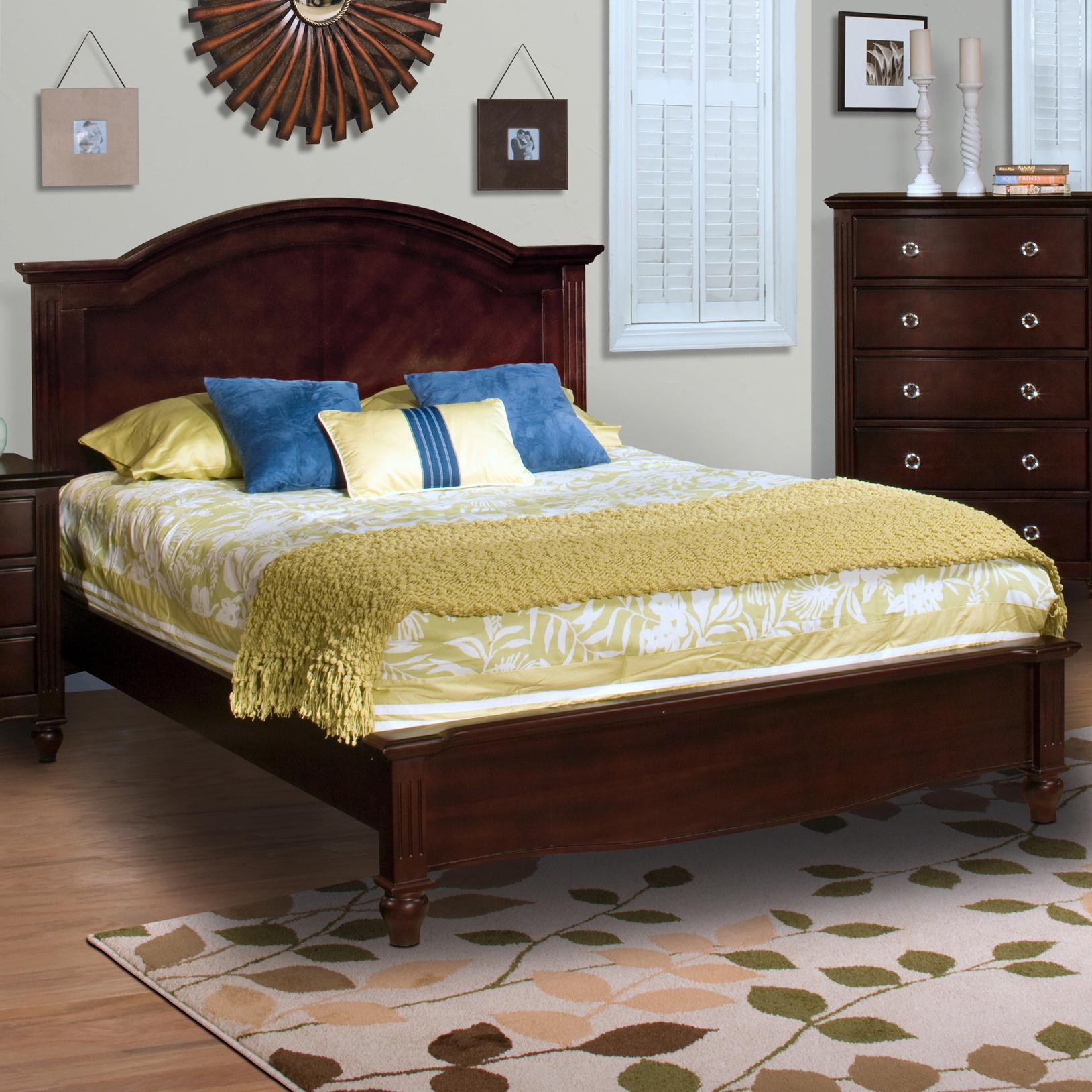 Victoria queen panel bed with low profile footboard for Panel bed mattress