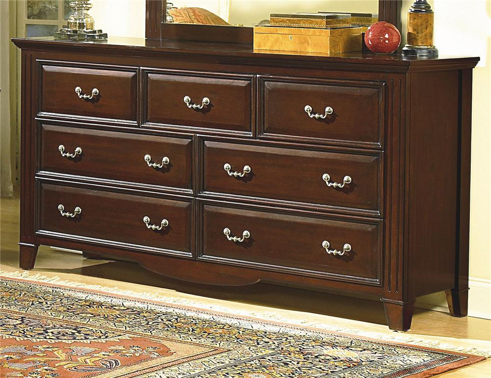 New Classic Drayton Hall 6740 050 Seven Drawer Dresser Dunk Bright Furniture Dressers