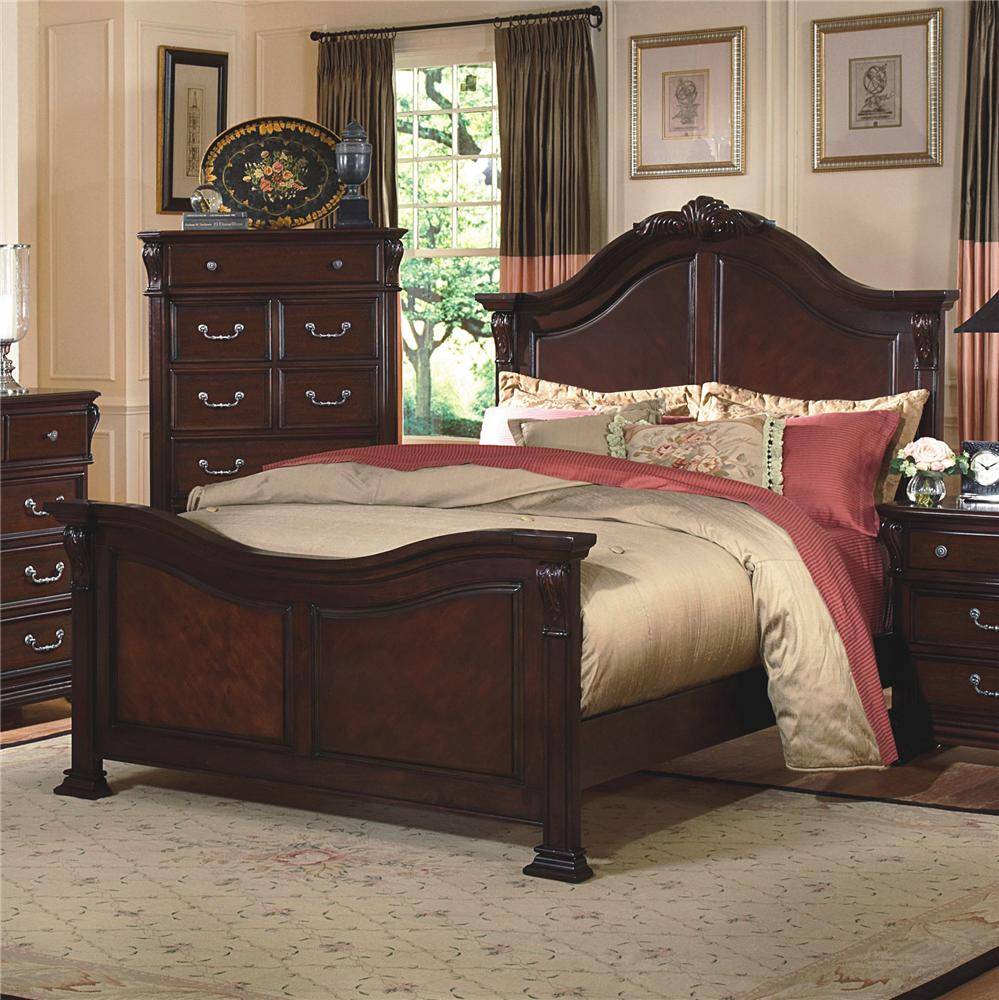 New Classic Emilie Queen Poster Bed With Embellishment Del Sol Furniture Headboard Footboard