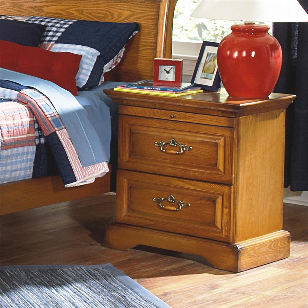 New Classic Honey Creek 1133 040 2 Drawer Nightstand Beck 39 S Furniture Night Stand