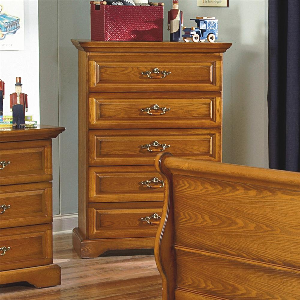 New Classic Honey Creek 1133 070 5 Drawer Lift Top Chest Del Sol Furniture Chest Of Drawers