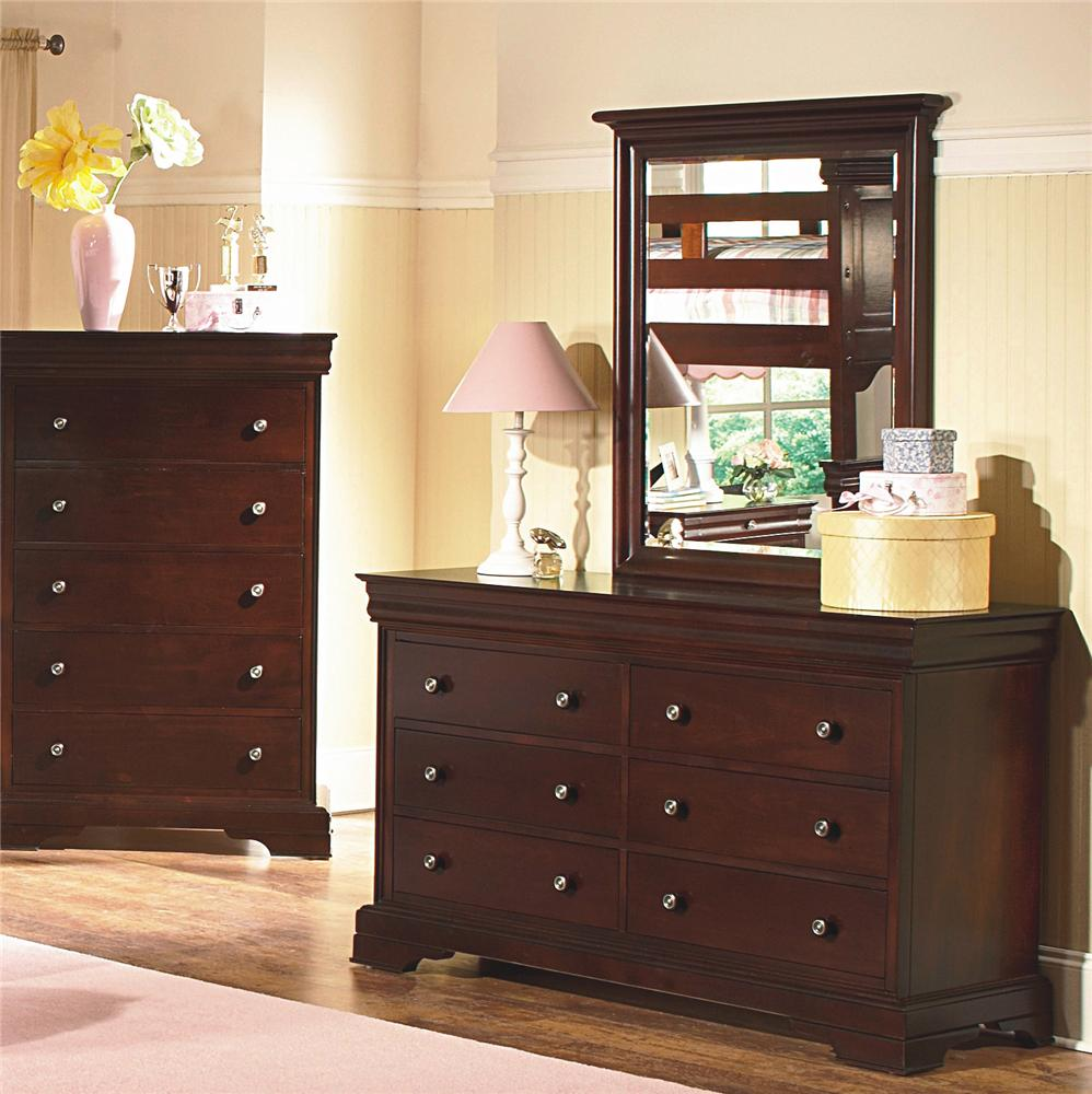 New Classic Versaille Youth Dresser And Mirror Combo Dunk Bright Furniture Dresser