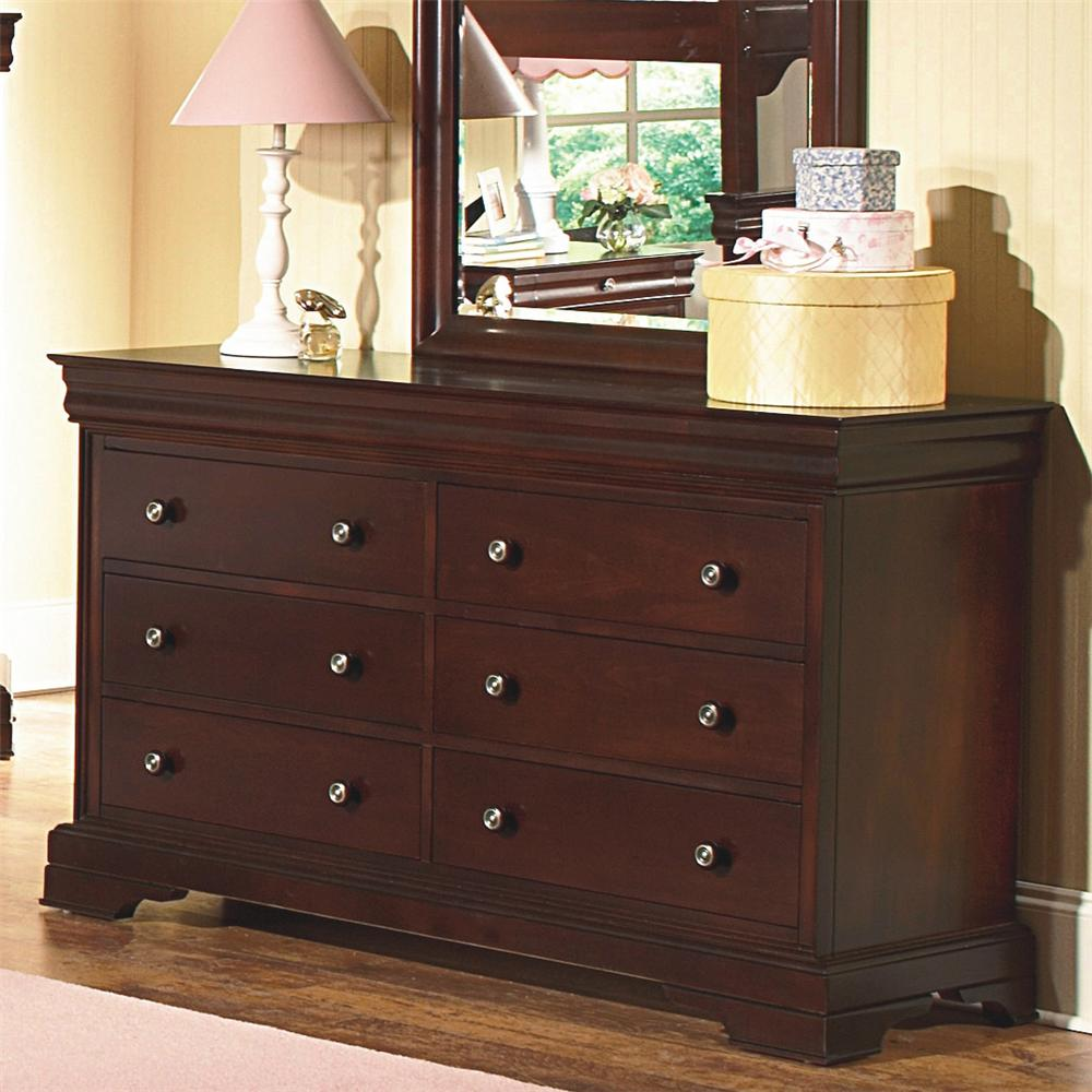 New Classic Versaille Youth Dresser And Mirror Combo Beck 39 S Furniture Dresser Mirror Sets