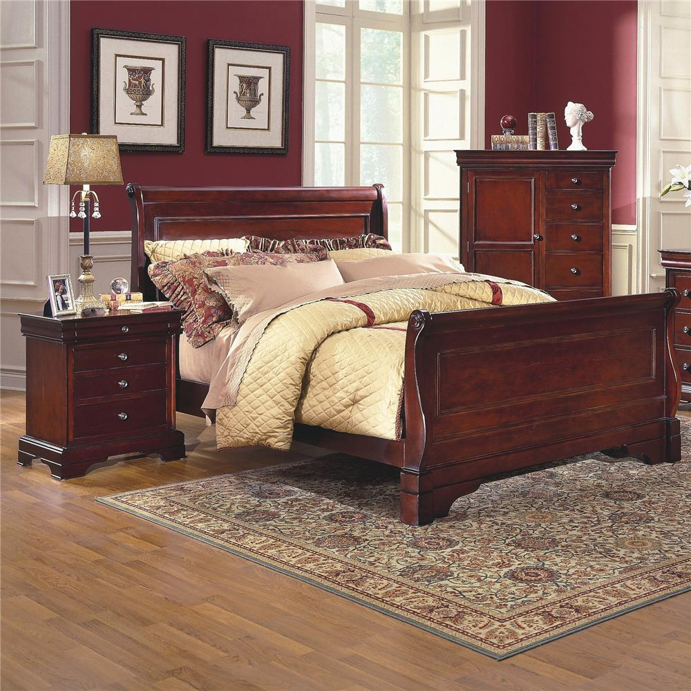 New Classic Versaille Queen Sleigh Bed Del Sol Furniture
