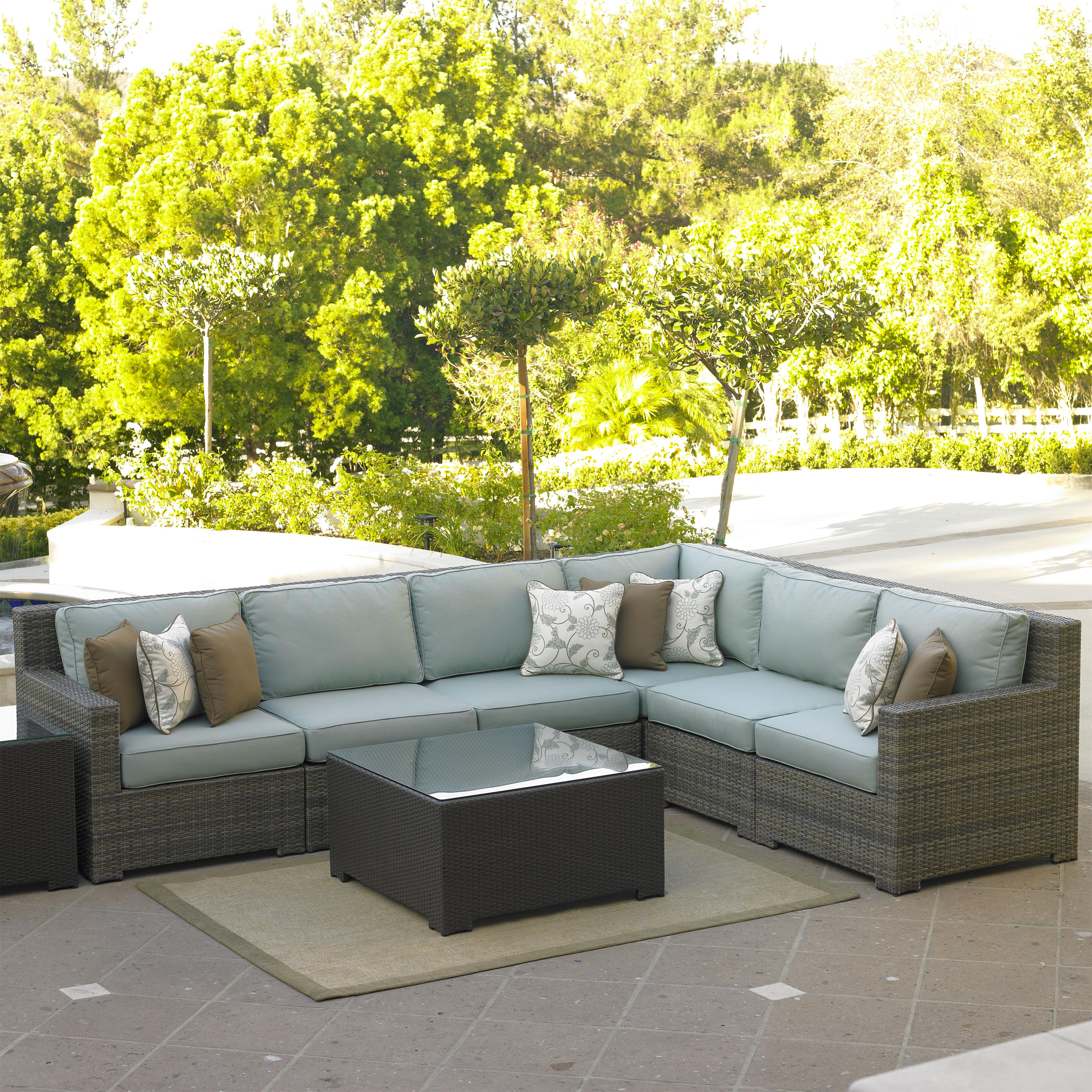 Northcape international malibu right arm facing six piece for Malibu outdoor sectional sofa