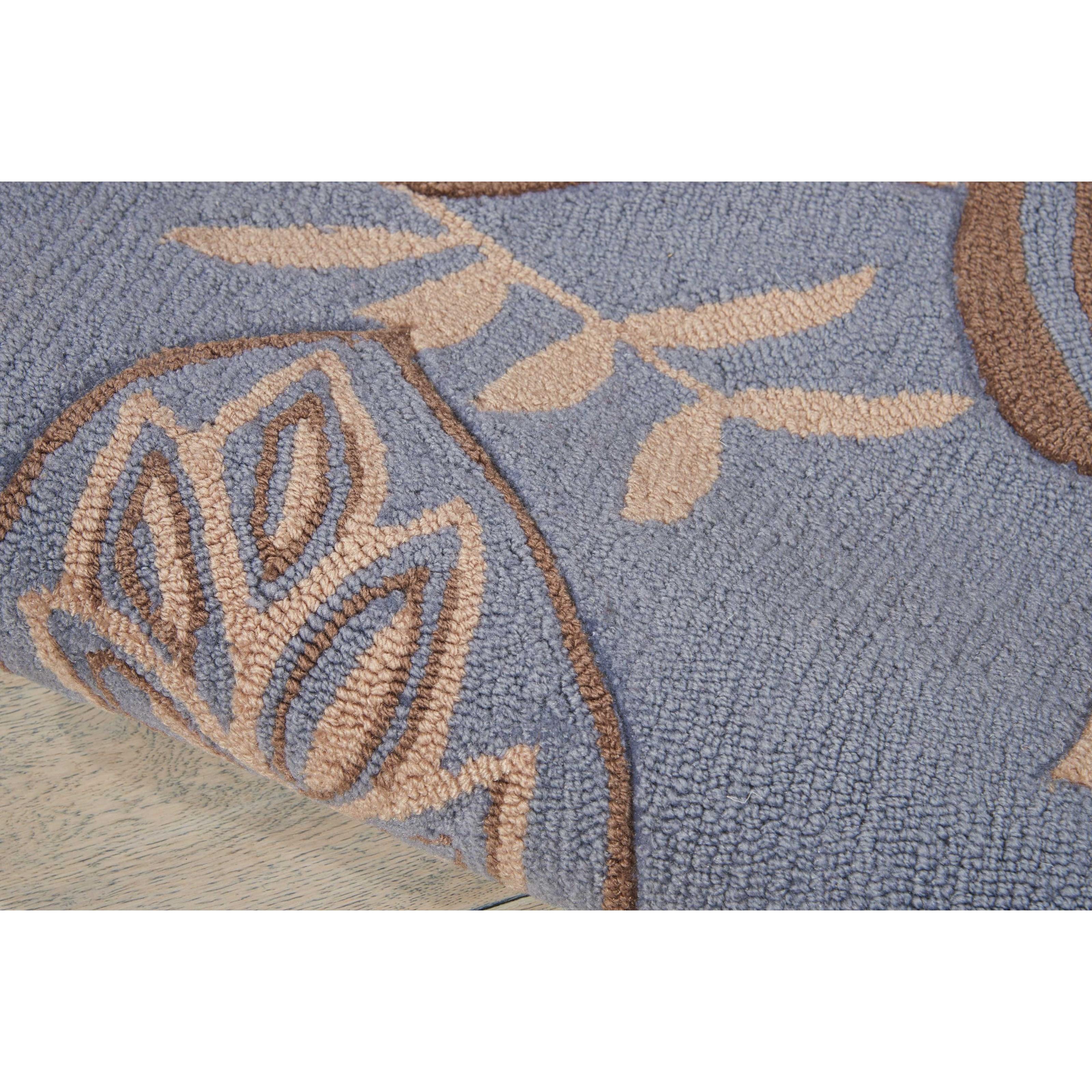nourison fantasy 2 39 3 x 8 39 light blue runner rug fashion. Black Bedroom Furniture Sets. Home Design Ideas
