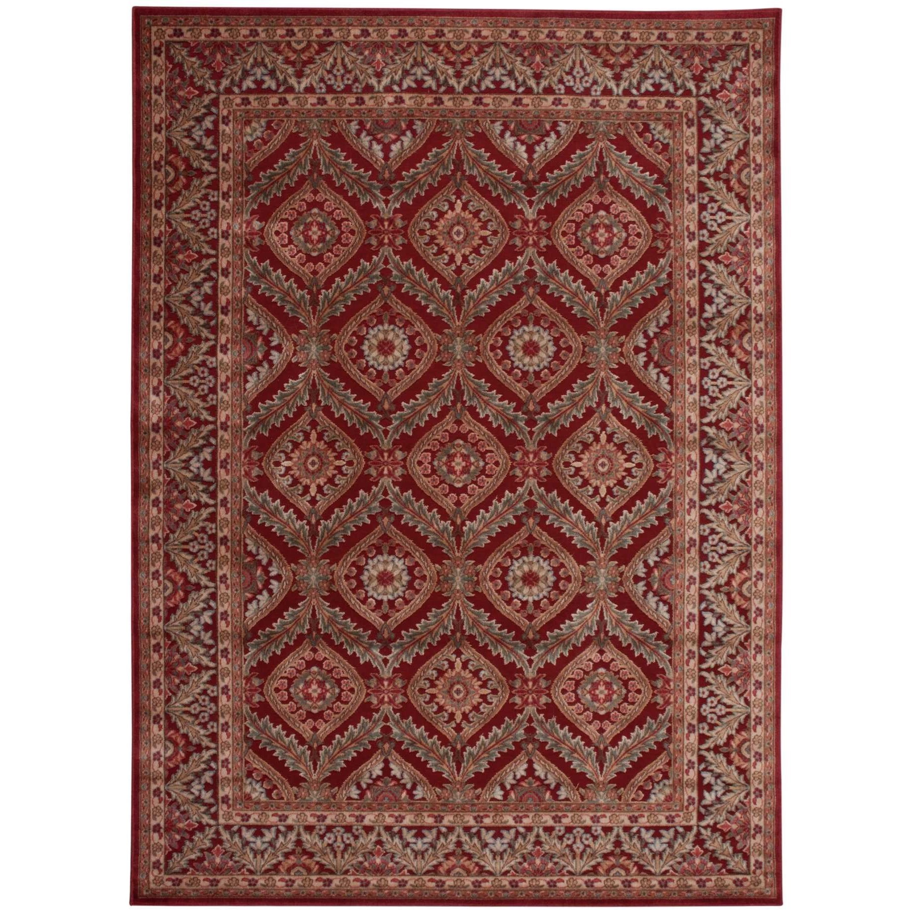 Nourison graphic illusions 7399quot x 103910quot red rectangle rug for Graphic illusions