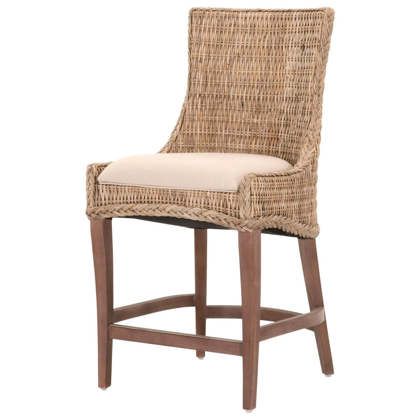 Orient express furniture wicker greco woven counter stool for Furniture express