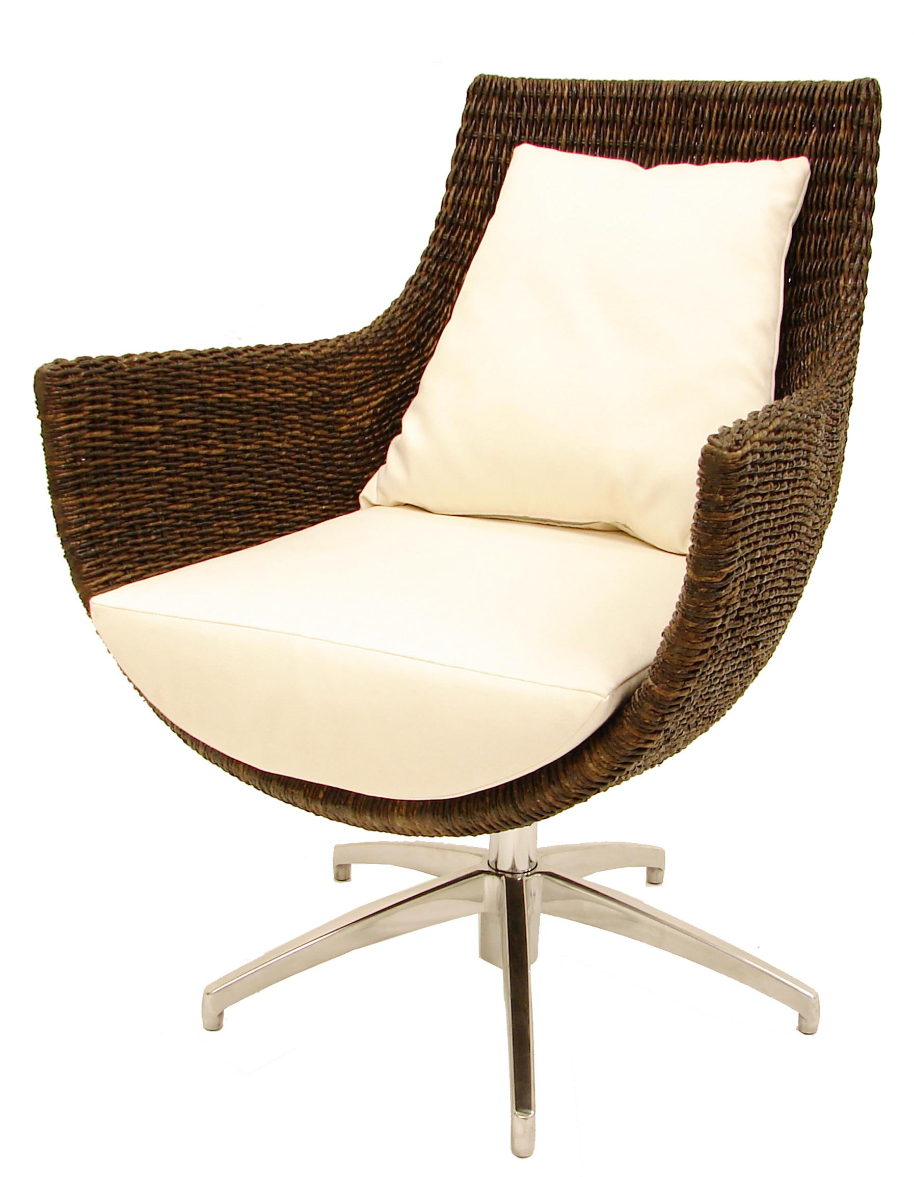 Palecek accent chairs by palecek modern high back rattan High back swivel chair for living room