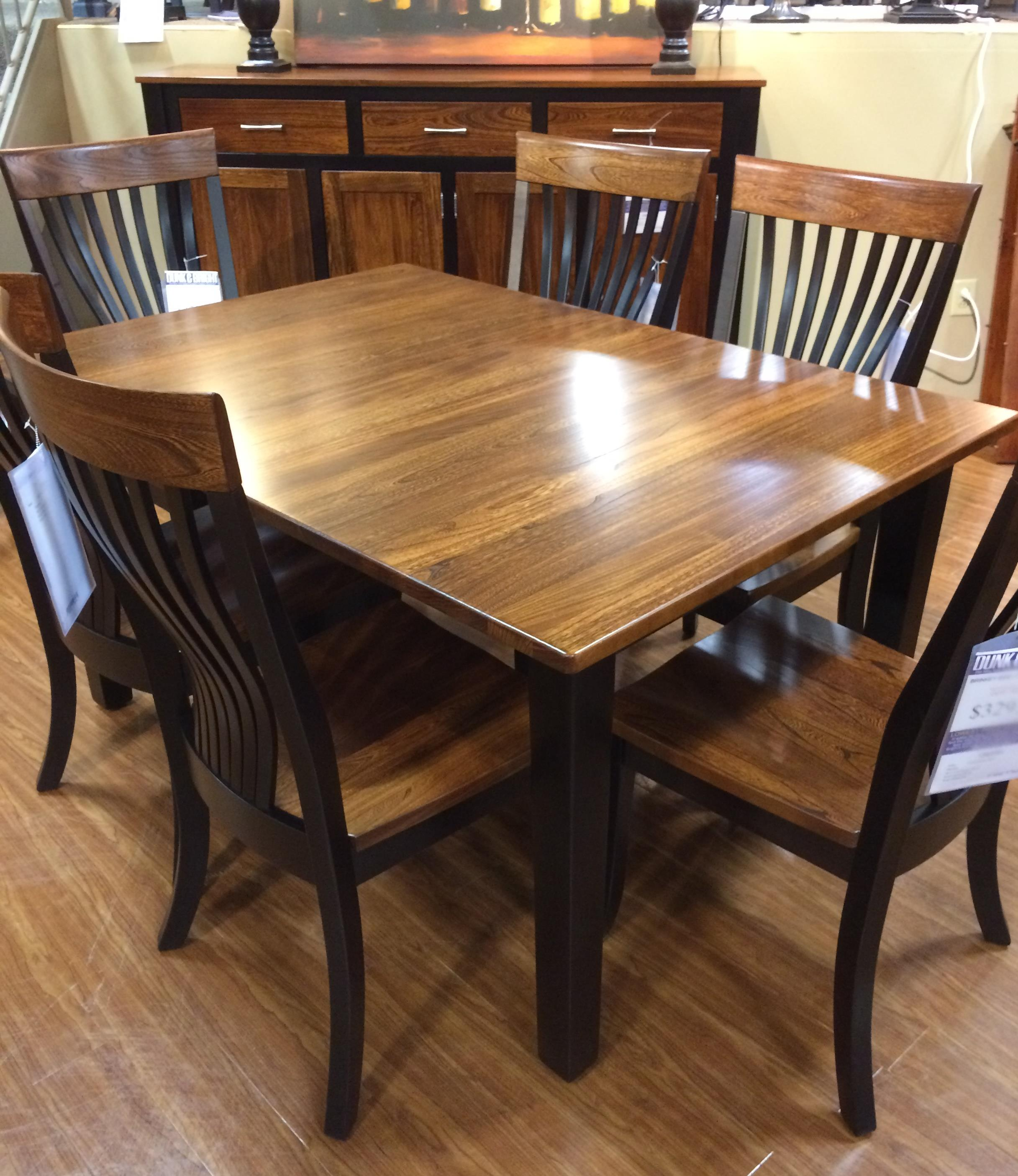 Palettes by winesburg blk elm 4260a two toned dining table for Dining room table for 2