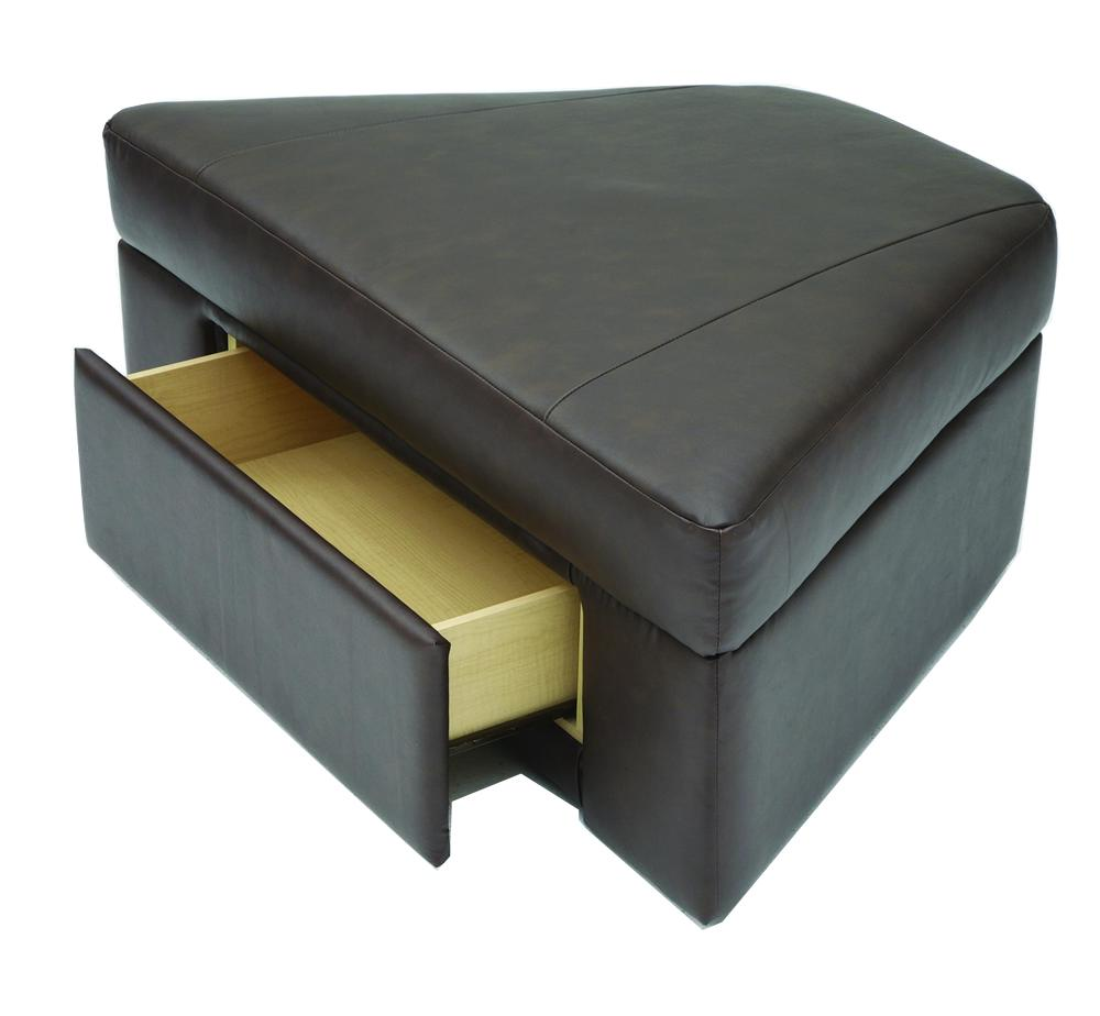 Palliser durant home theater wedge storage ottoman for Corner home theater furniture