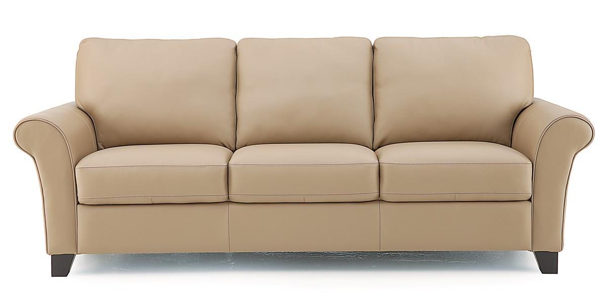 Palliser rosebank 77429 01 transitional sofa with flared for Furniture 77429