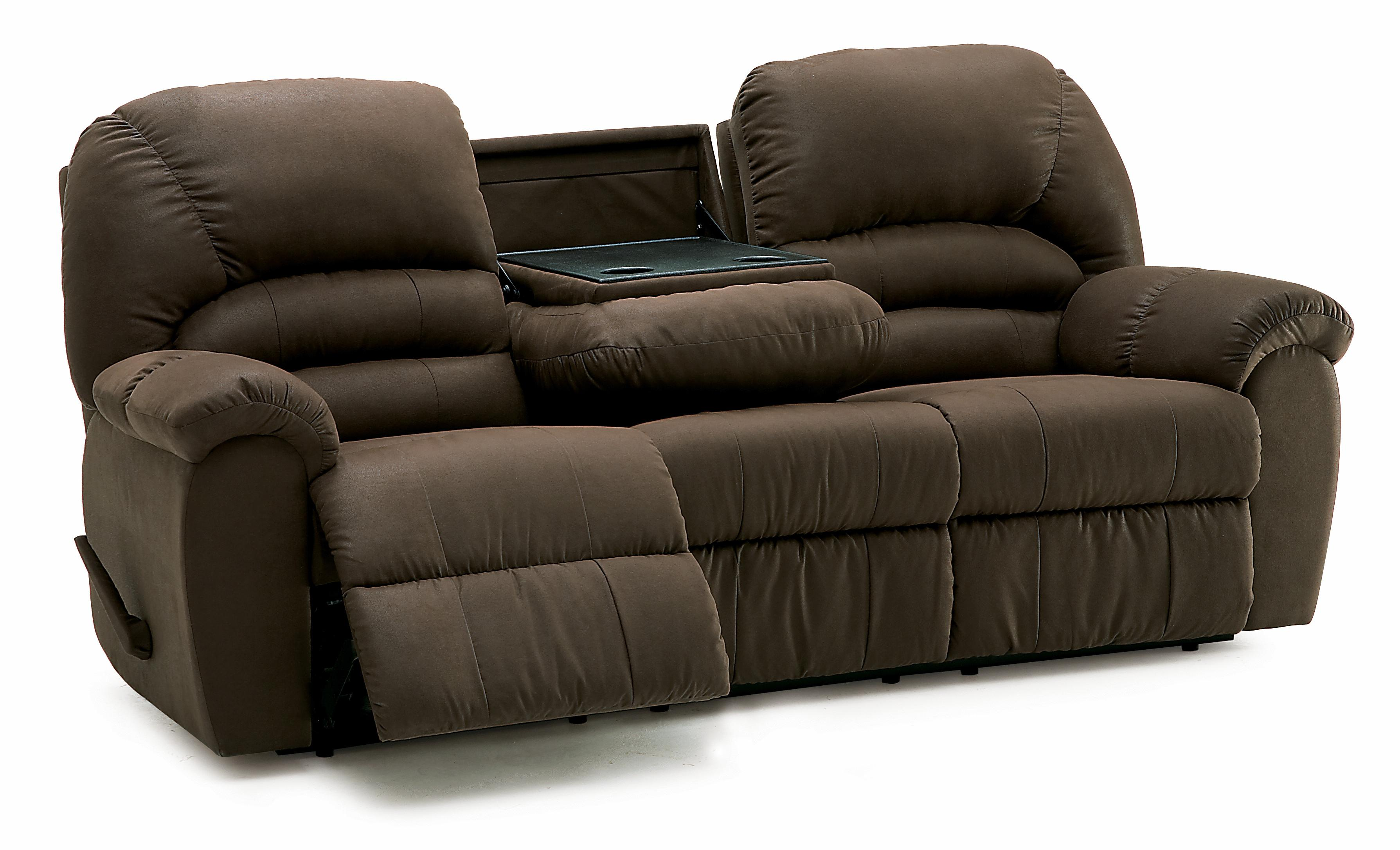 Palliser taurus 46093 52 casual reclining sofa with center for Sectional sofa with drop down table