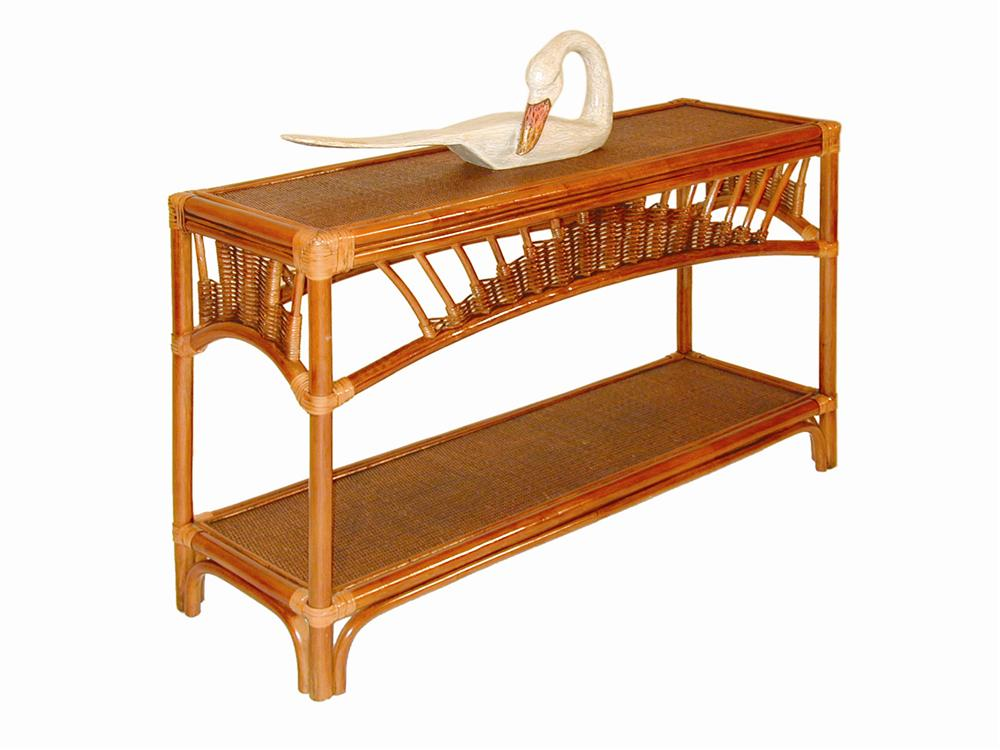 Bali Sofa TableConsole By Palm Springs Rattan Wolf