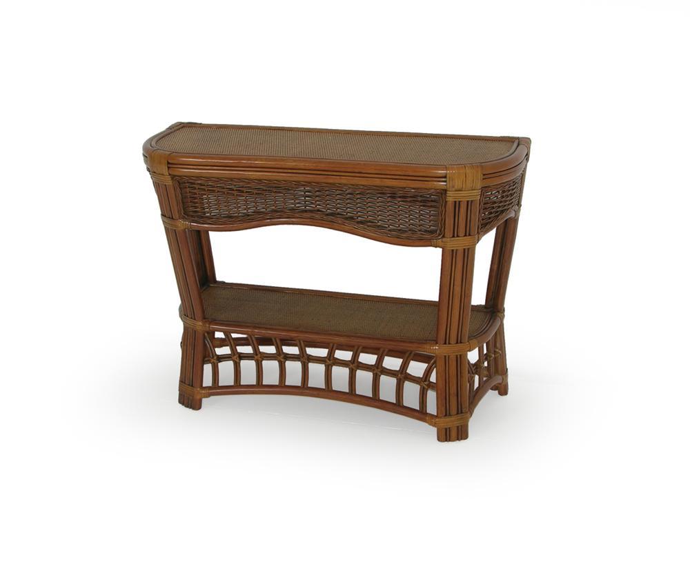 Islamorada sofa console table by palm springs rattan for Sofa console
