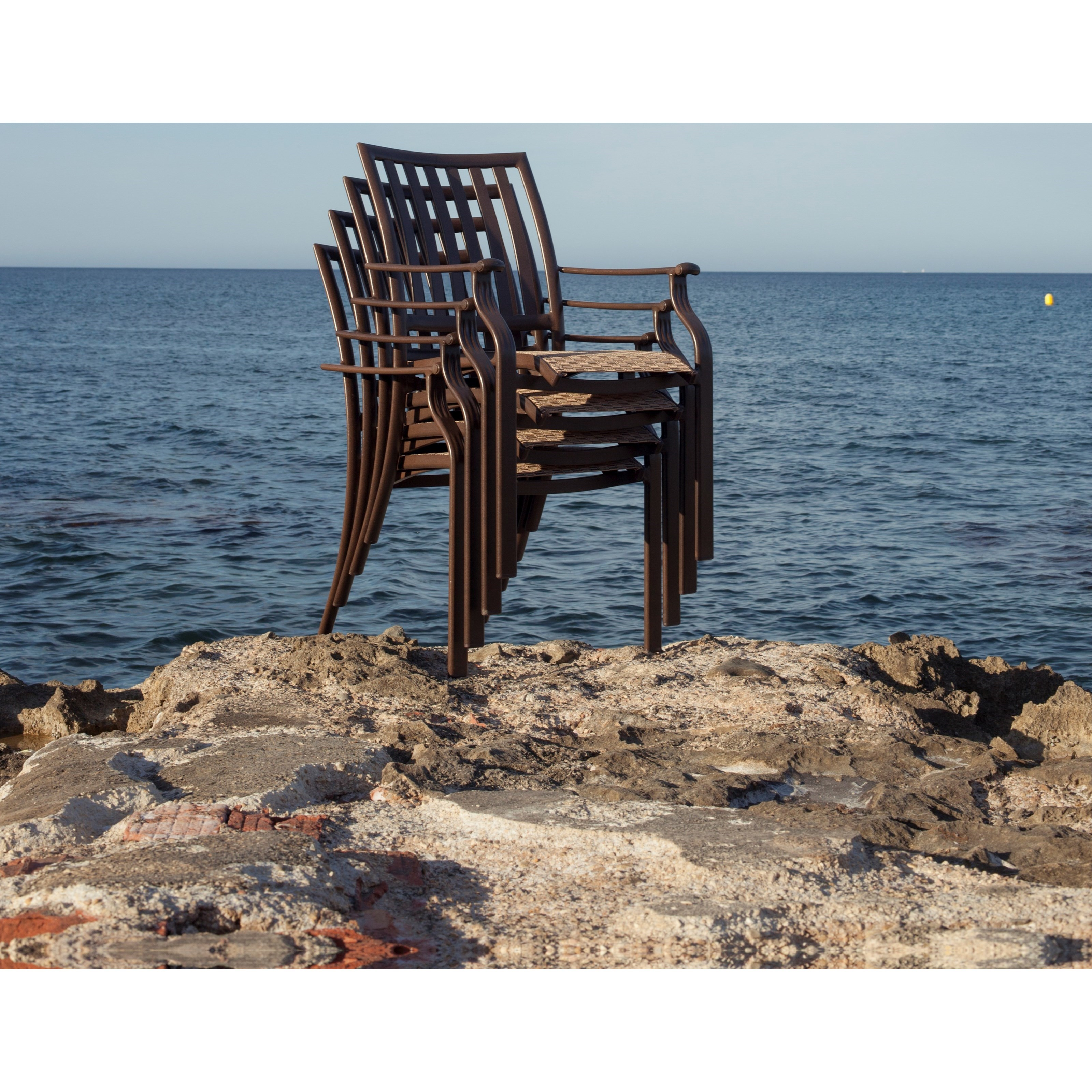 Pelican Reef Panama Jack Island Breeze Stackable Sling Arm Chair With Slat Back Jacksonville