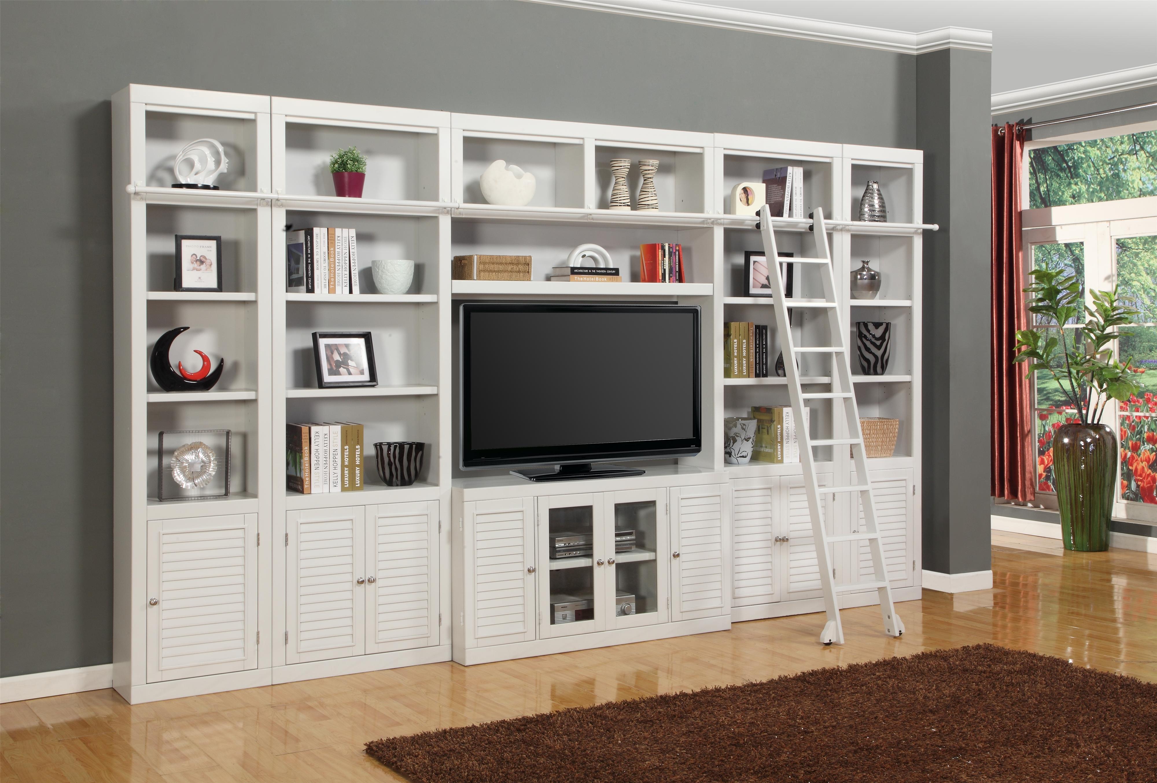 Parker house boca six piece entertainment center bookcase for Bookcase with tv unit