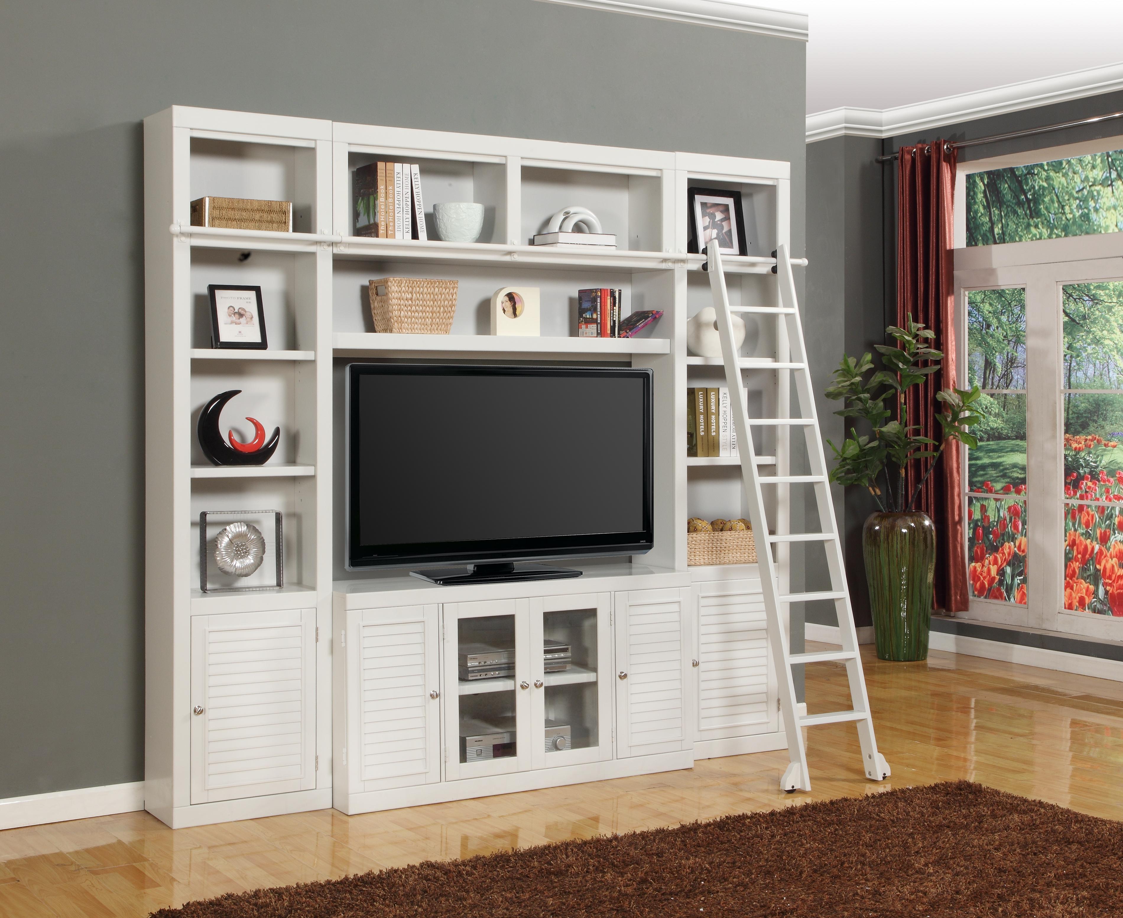 Parker house boca four piece entertainment center bookcase for Bookcase with tv unit