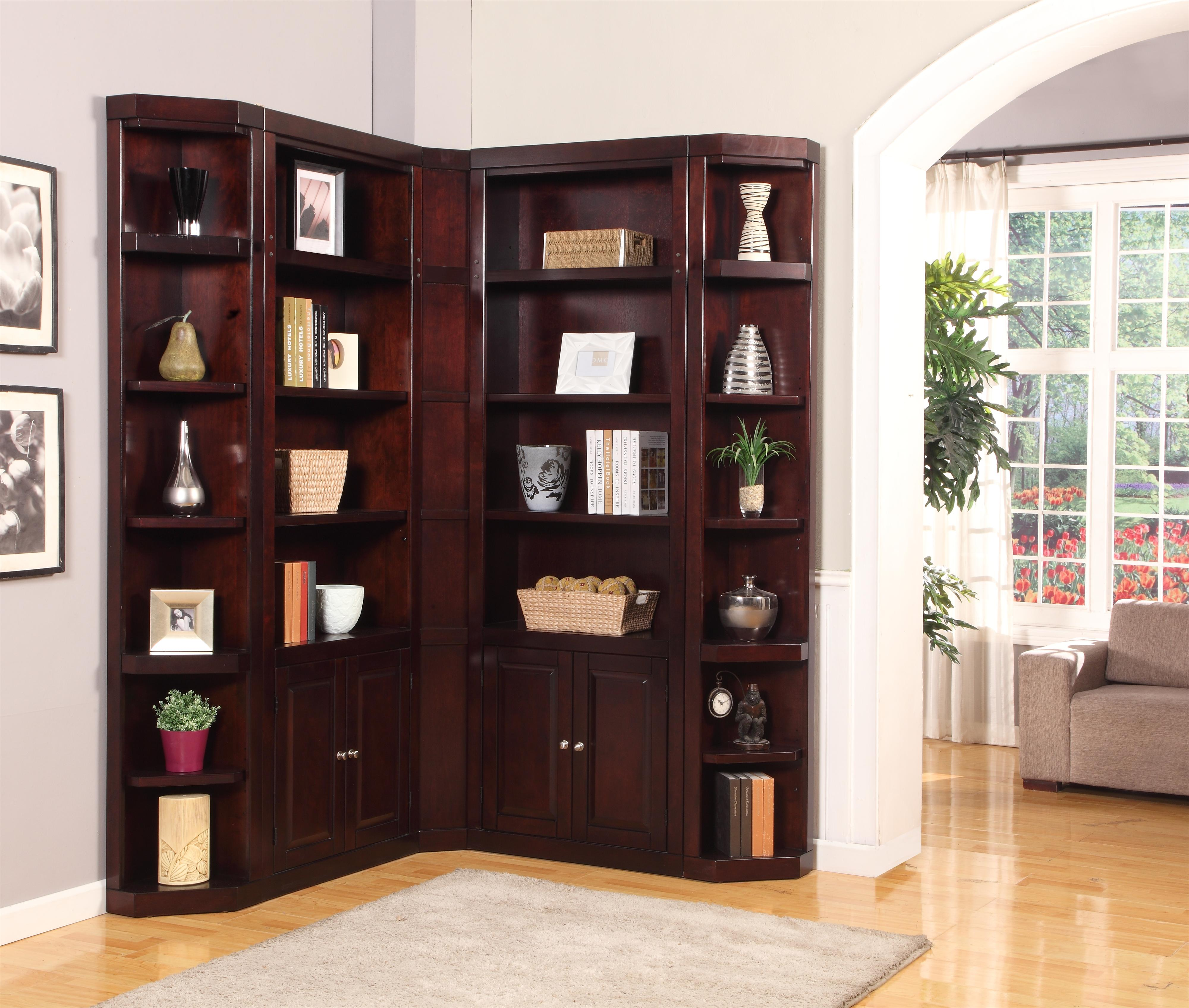 Parker house boston corner bookcase unit wayside for Corner display units for living room