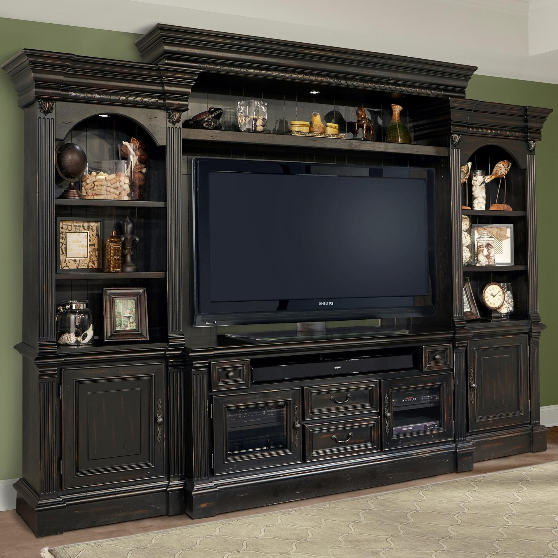 Parker House Fairbanks 4 Piece Entertainment Wall With Pier Cabinets Dream Home Furniture