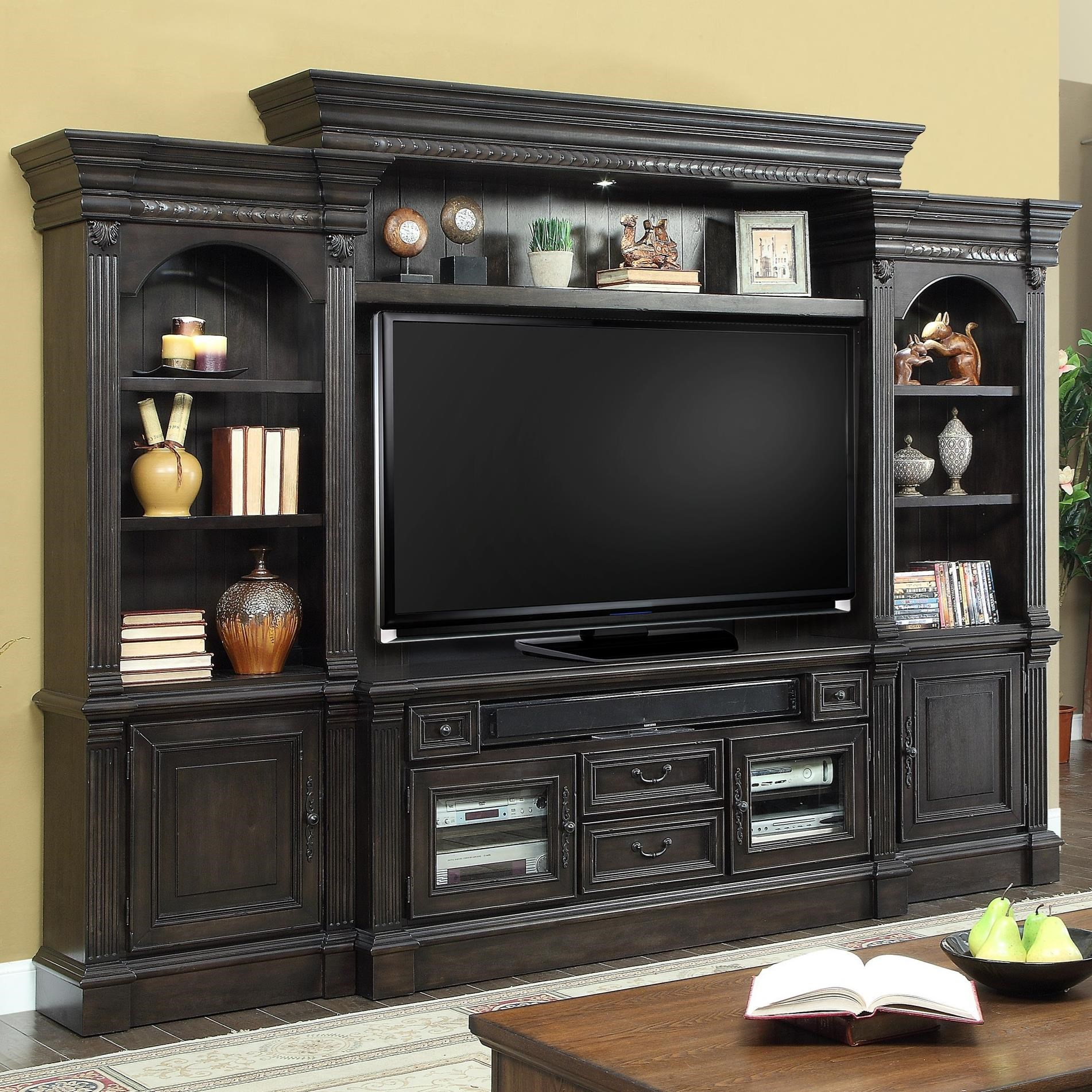 parker house fairbanks fai 100 4 4 piece entertainment. Black Bedroom Furniture Sets. Home Design Ideas