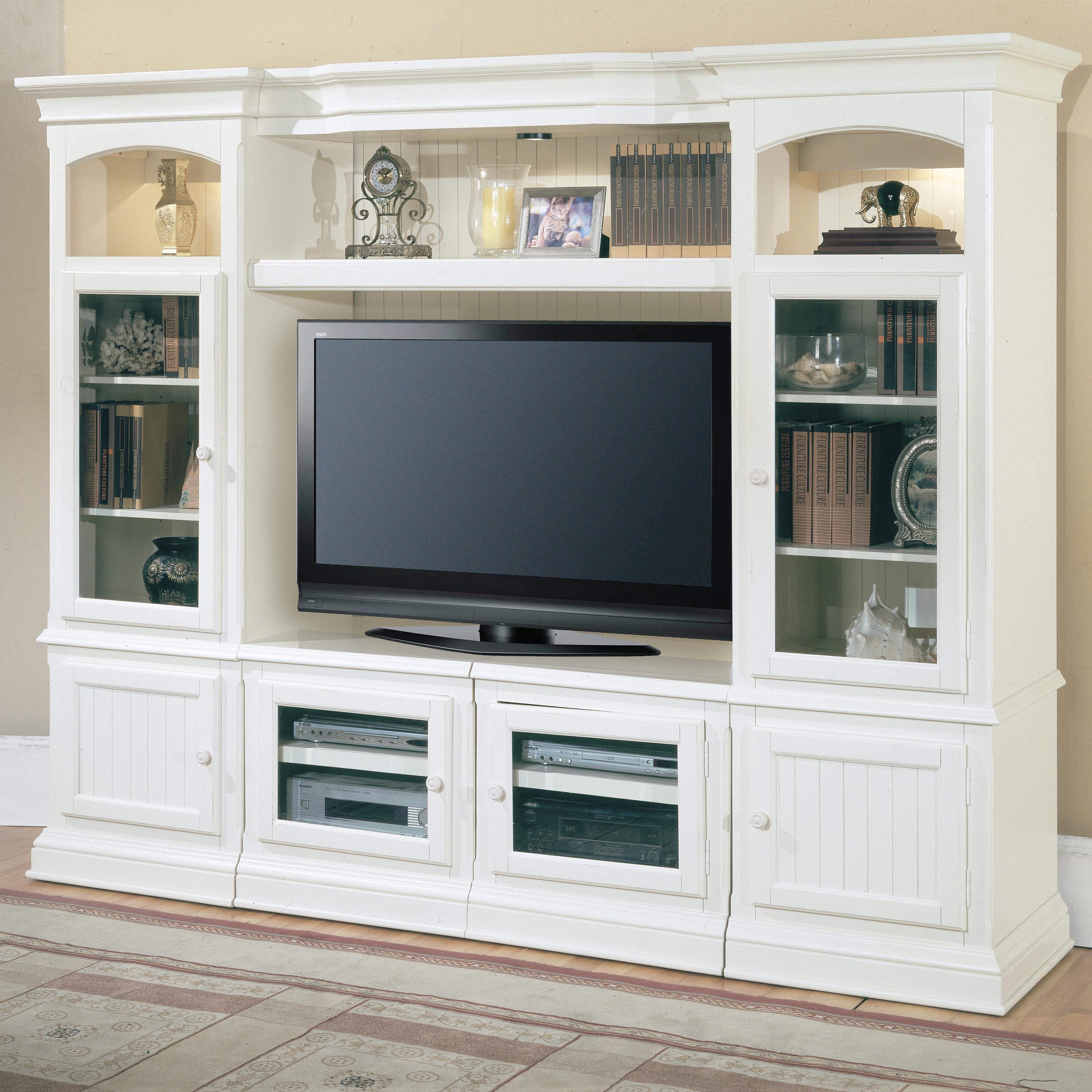 parker house hartford 4 piece entertainment wall unit. Black Bedroom Furniture Sets. Home Design Ideas