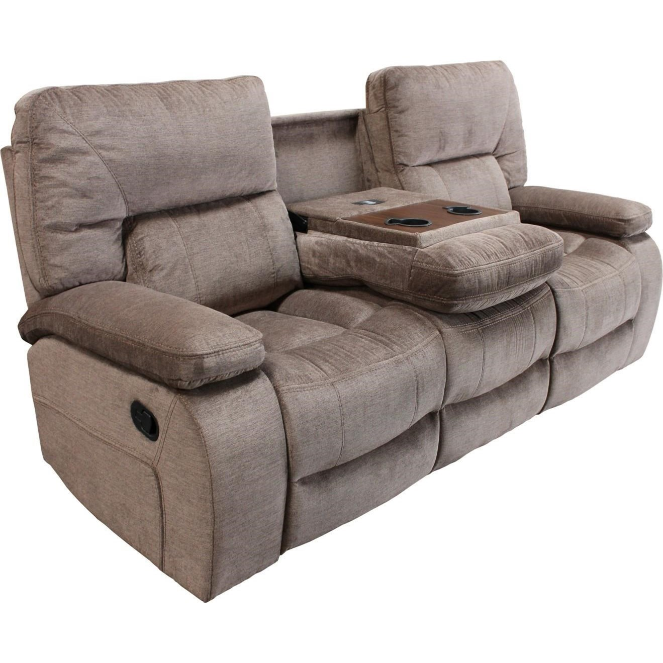 parker living chapman casual dual reclining sofa with drop down center console cupholders. Black Bedroom Furniture Sets. Home Design Ideas