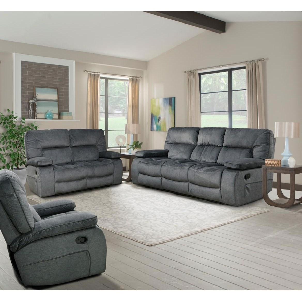 Parker living chapman mcha 834 pol casual dual reclining sofa with drop down center console for The parkers tv show living room