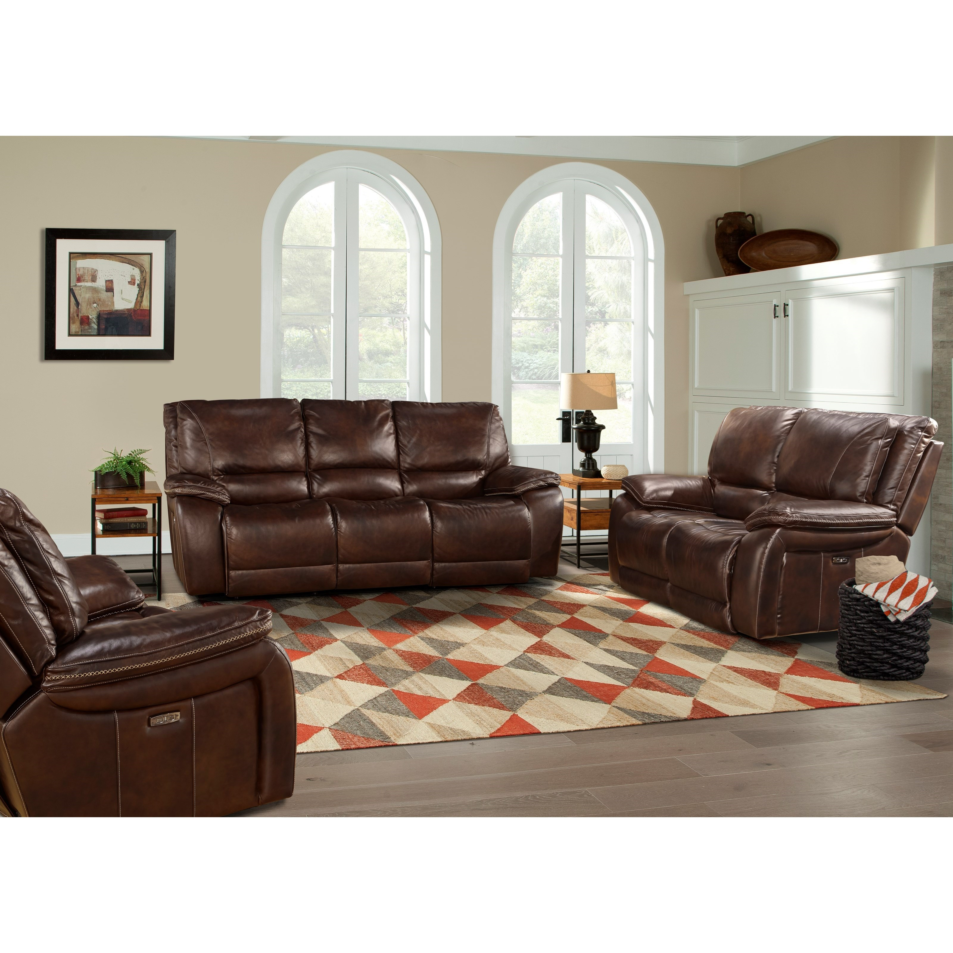 Parker living vail power reclining living room group del for Living room furniture groups