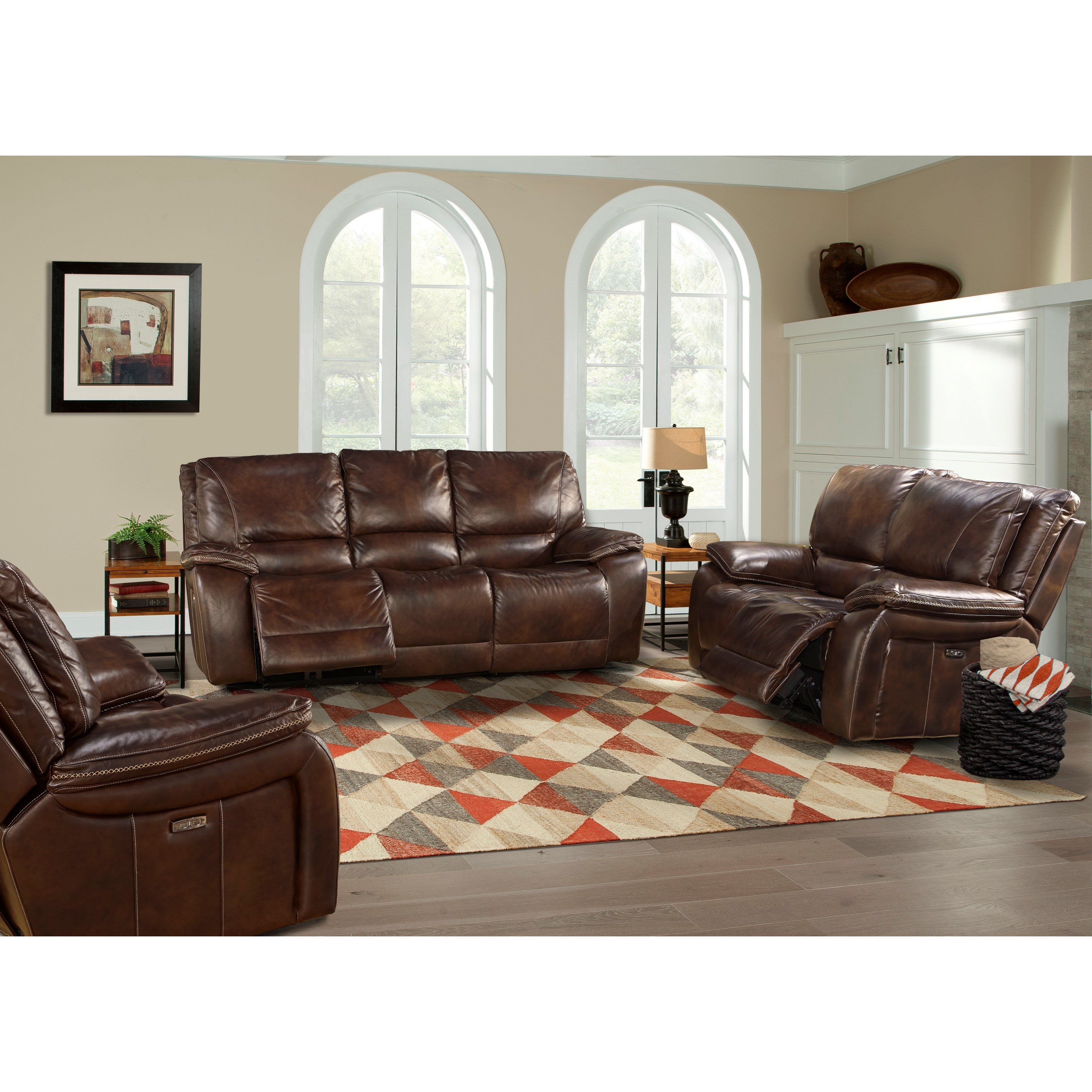 Parker living vail power reclining living room group for Living room furniture groups