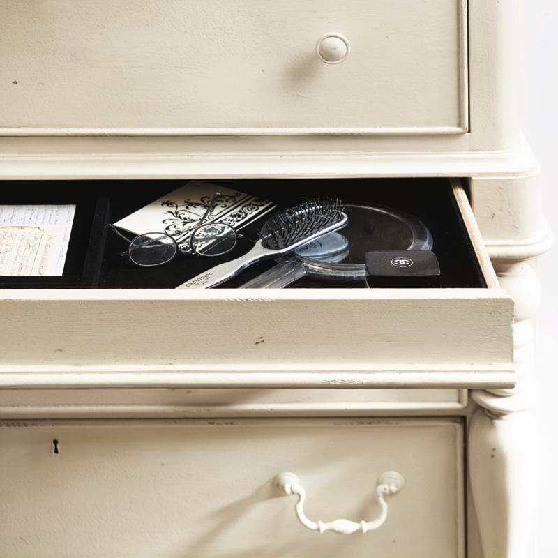 Universal home tall chest with 7 drawers and semi hidden for Hidden jewelry drawer