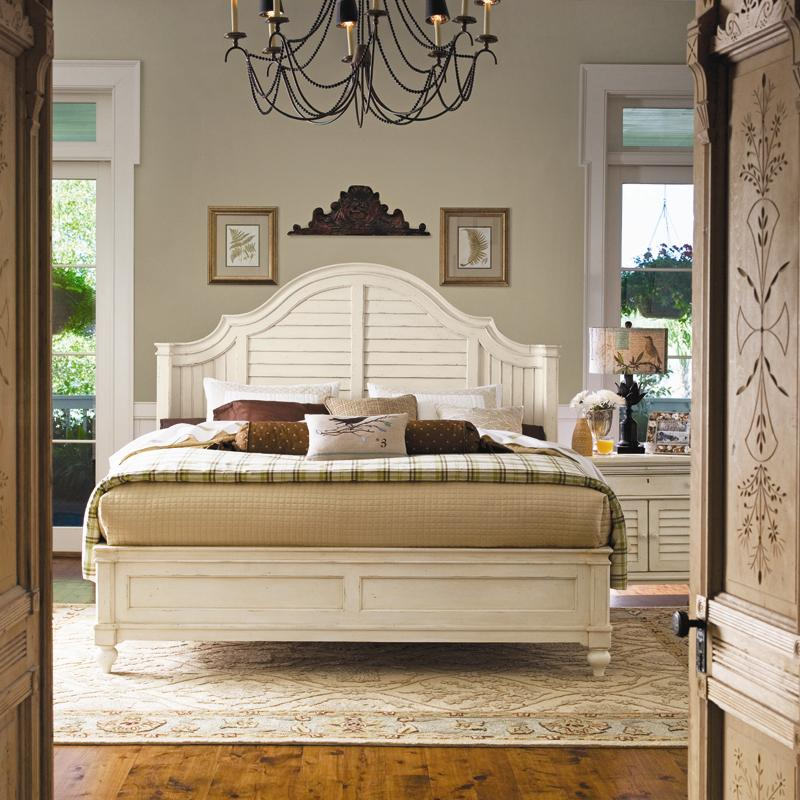Paula Deen By Universal Home 996210b Queen Steel Magnolia Bed With Panel Headboard And Low