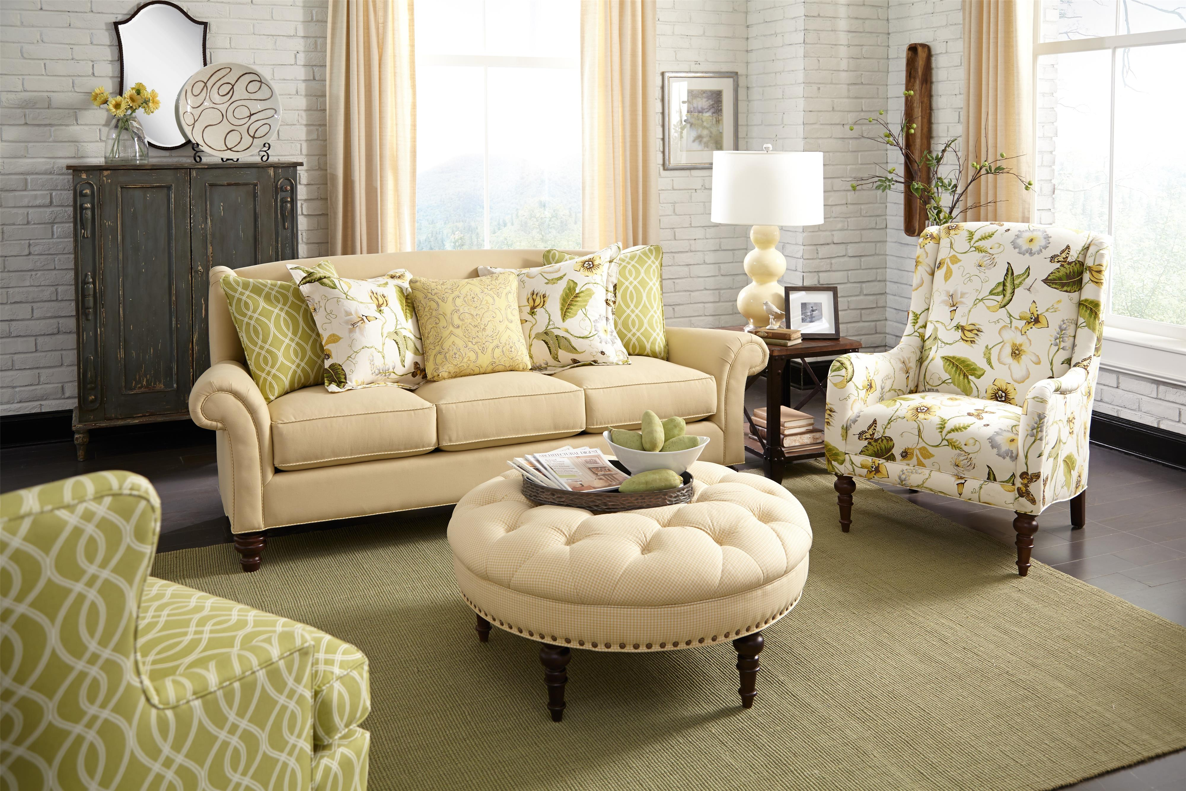 Paula Deen By Craftmaster Paula Deen Upholstered Accents Traditional Accent Chair With Wing Back