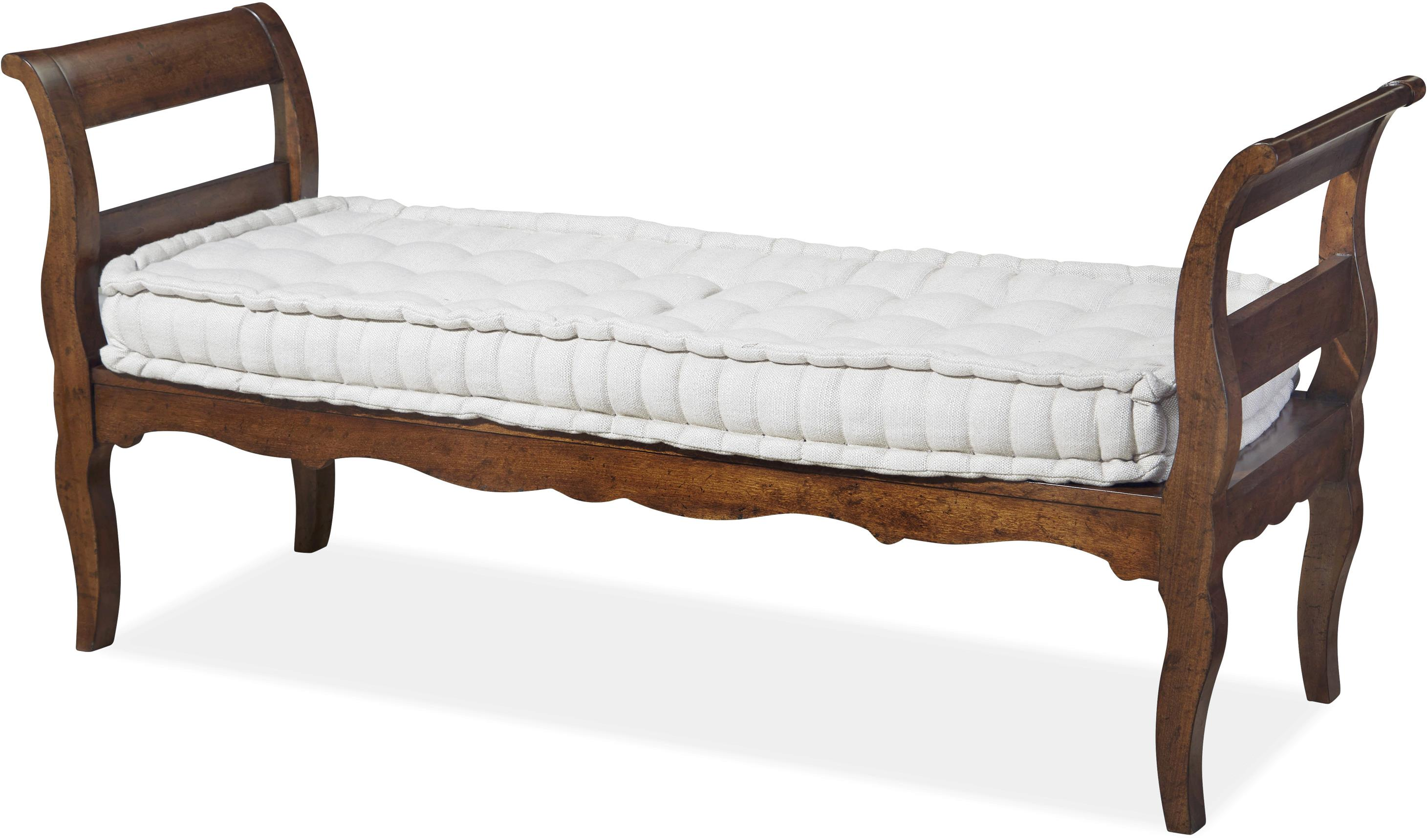 Paula deen by universal dogwood bed end bench with tufted for End of bed chair