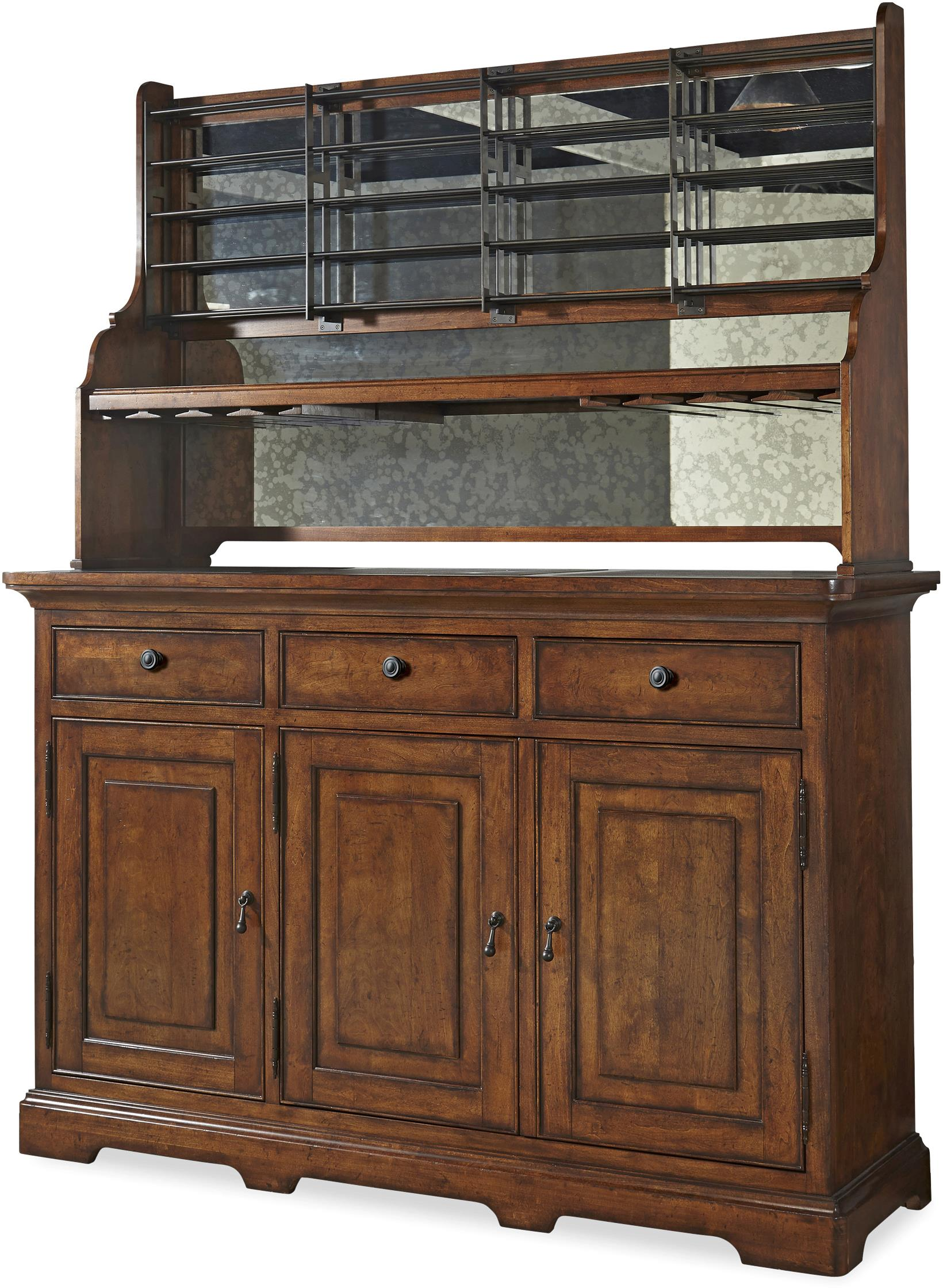 Paula Deen by Universal Dogwood Credenza with Wine Bottle Rack and ...