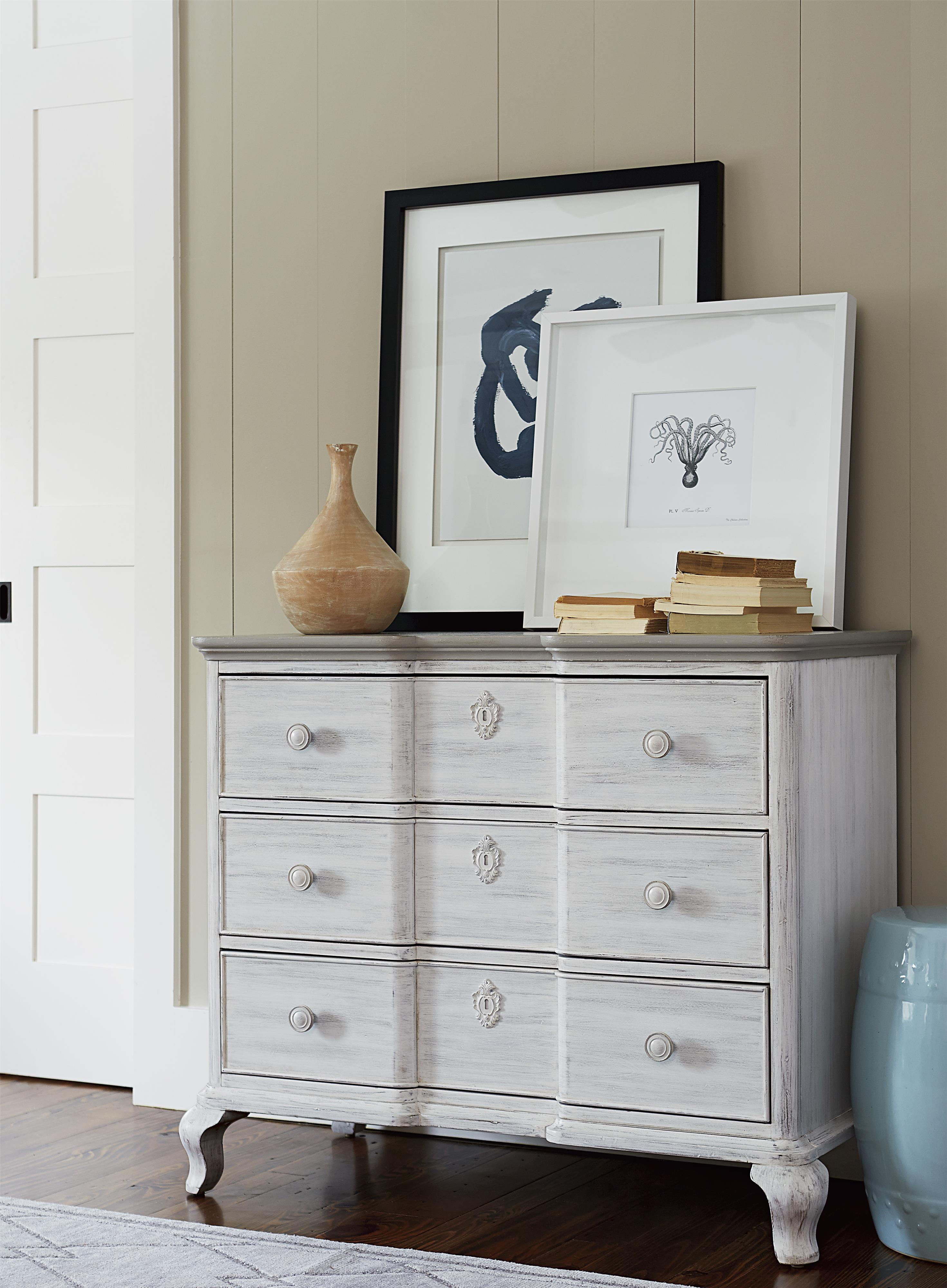 Paula Deen By Universal Dogwood Bedside Chest With 3 Drawers Fashion Furniture Night Stands