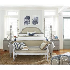 Paula Deen By Universal Dogwood 599290b The Dogwood King Bed With Adjustable Posts Baer 39 S