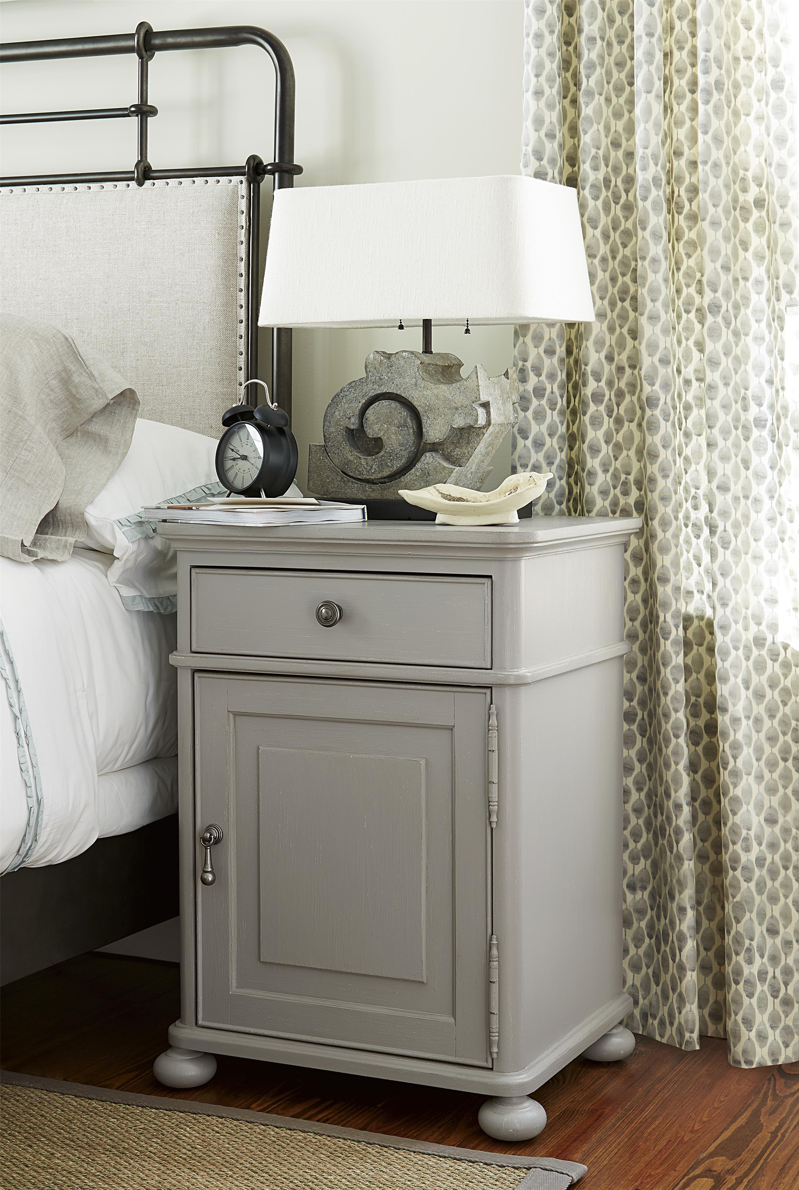 Paula Deen By Universal Dogwood Door Nightstand With Adjustable Shelf Fashion Furniture
