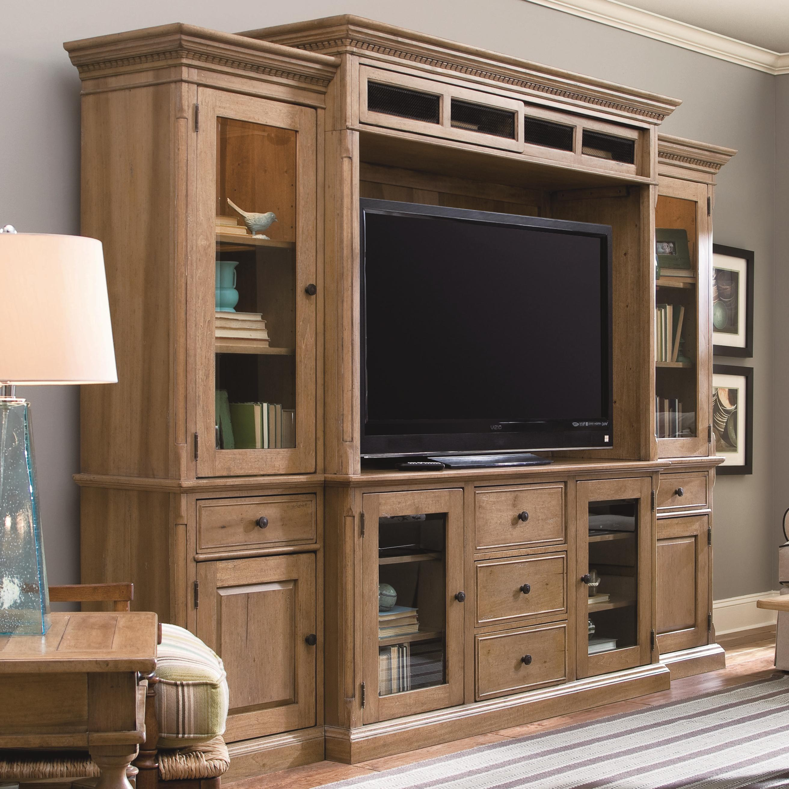 Paula deen by universal down home 192966he entertainment console wall unit baer 39 s furniture for Wall units for living room online