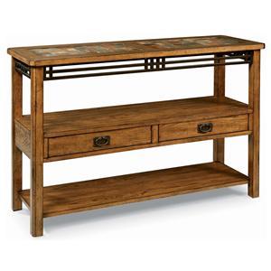 Peters Revington American Craftsman Oak End Table With Slate Tile Top Bigfurniturewebsite