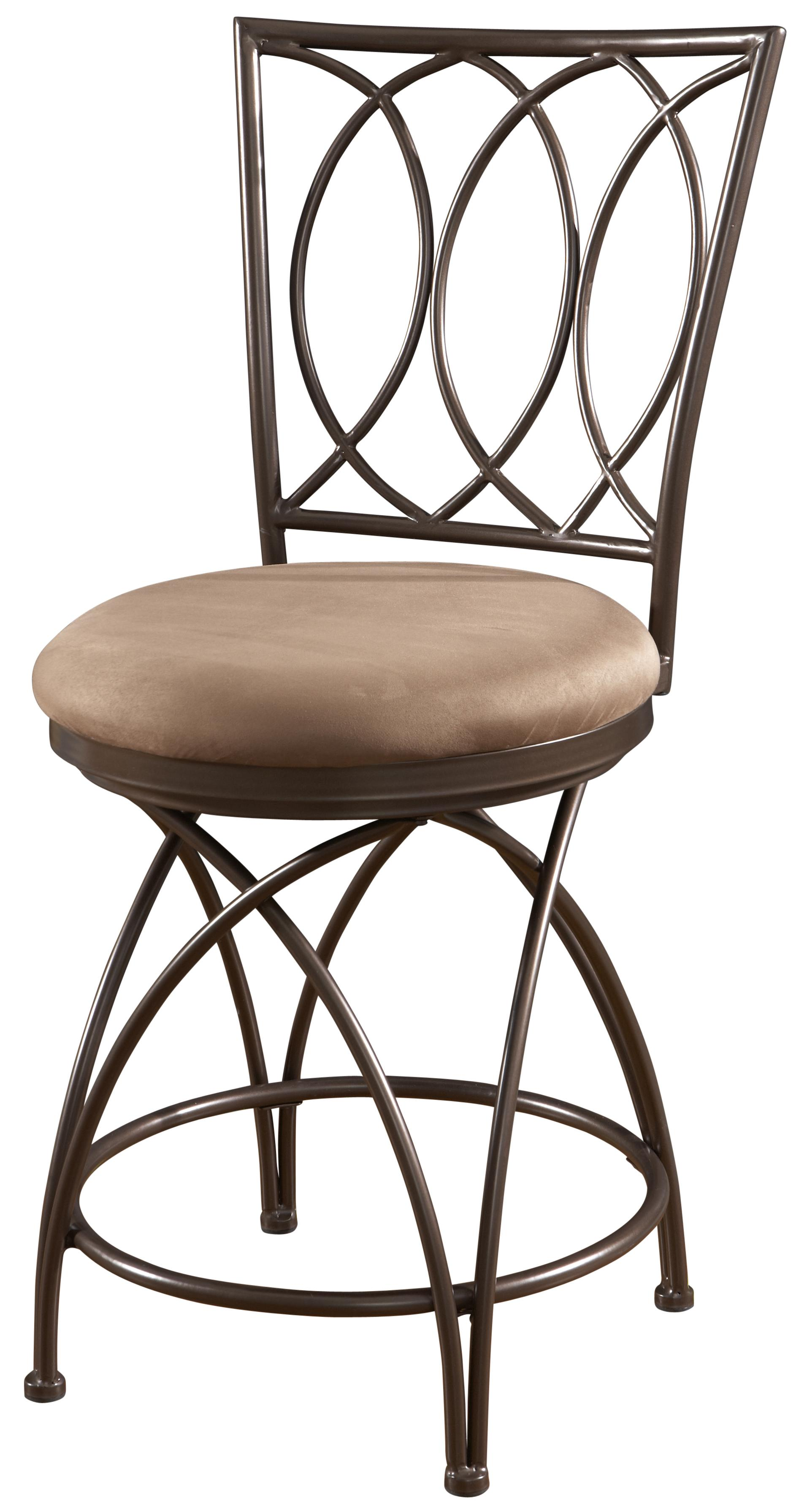Powell Big And Tall Metal Crossed Legs Counter Stool With