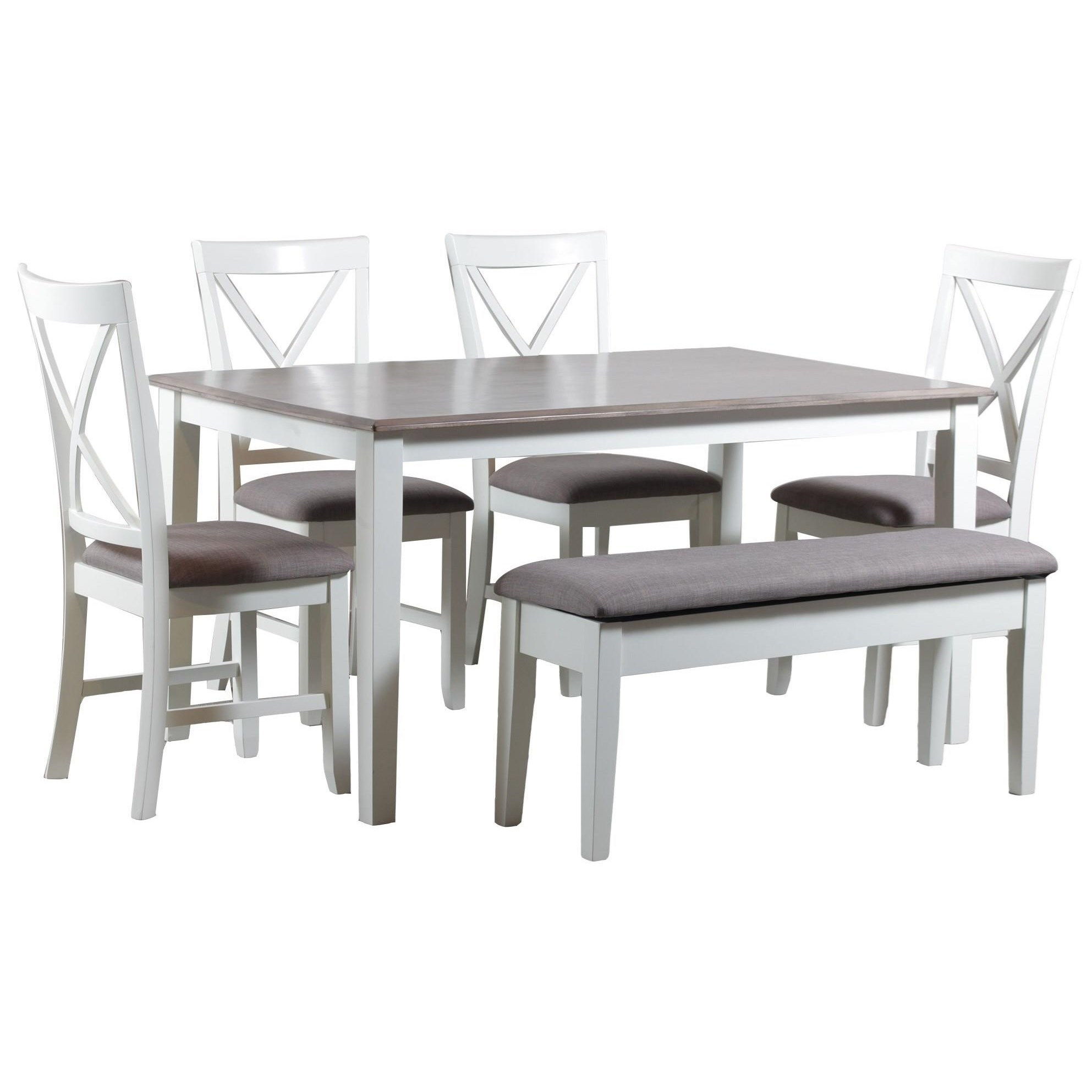 Powell jane jane 6pc dining set furniture fair north for Dining room tables jacksonville nc