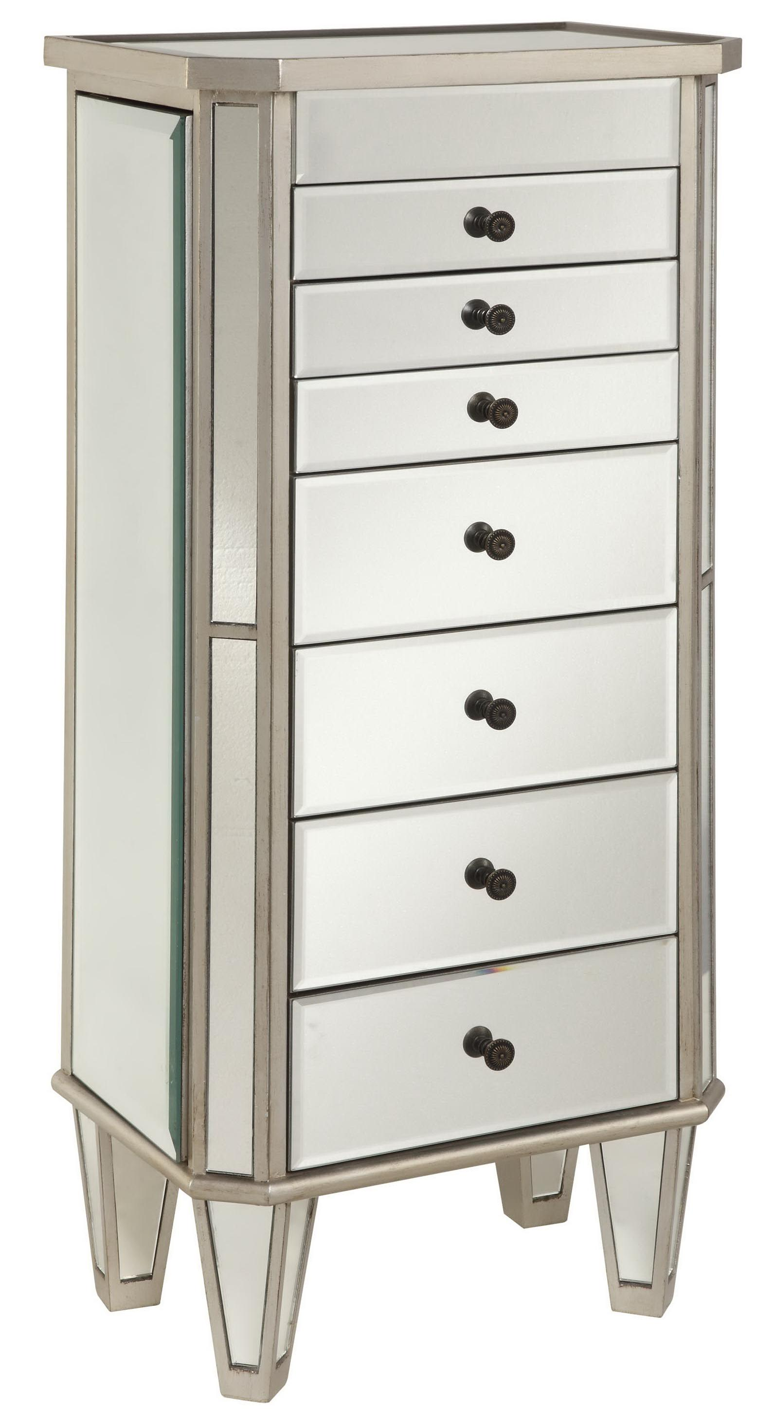 powell jewelry armoire silver painted jewelry armoire with