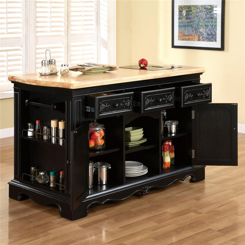 pennfield kitchen island powell pennfield kitchen island with three drawers 14534