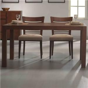 Primo international 6770 rectangle square leg dining table - Square to rectangle dining table ...