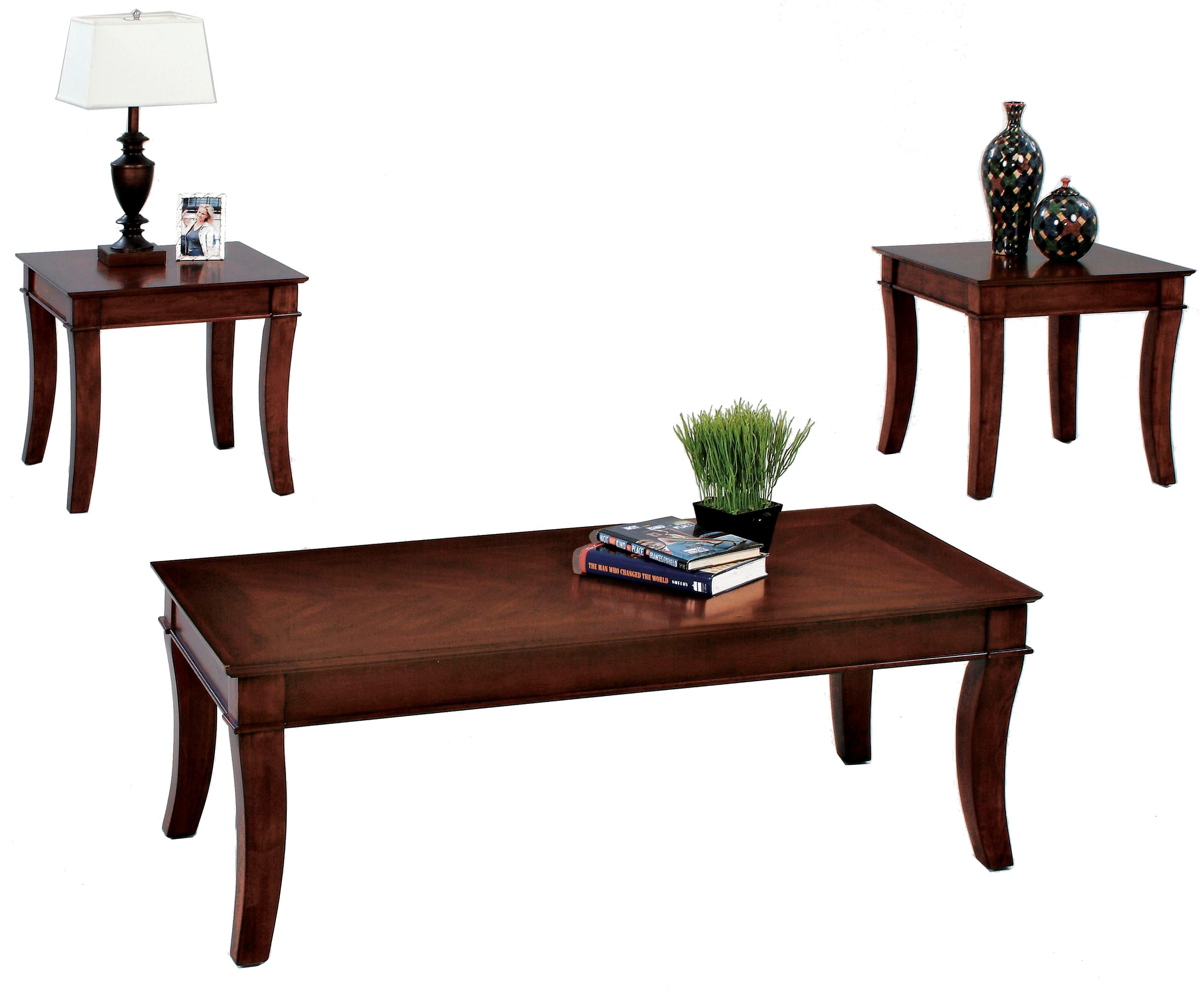 Progressive furniture corona 3 pack occasional set w for Occasional table manufacturers
