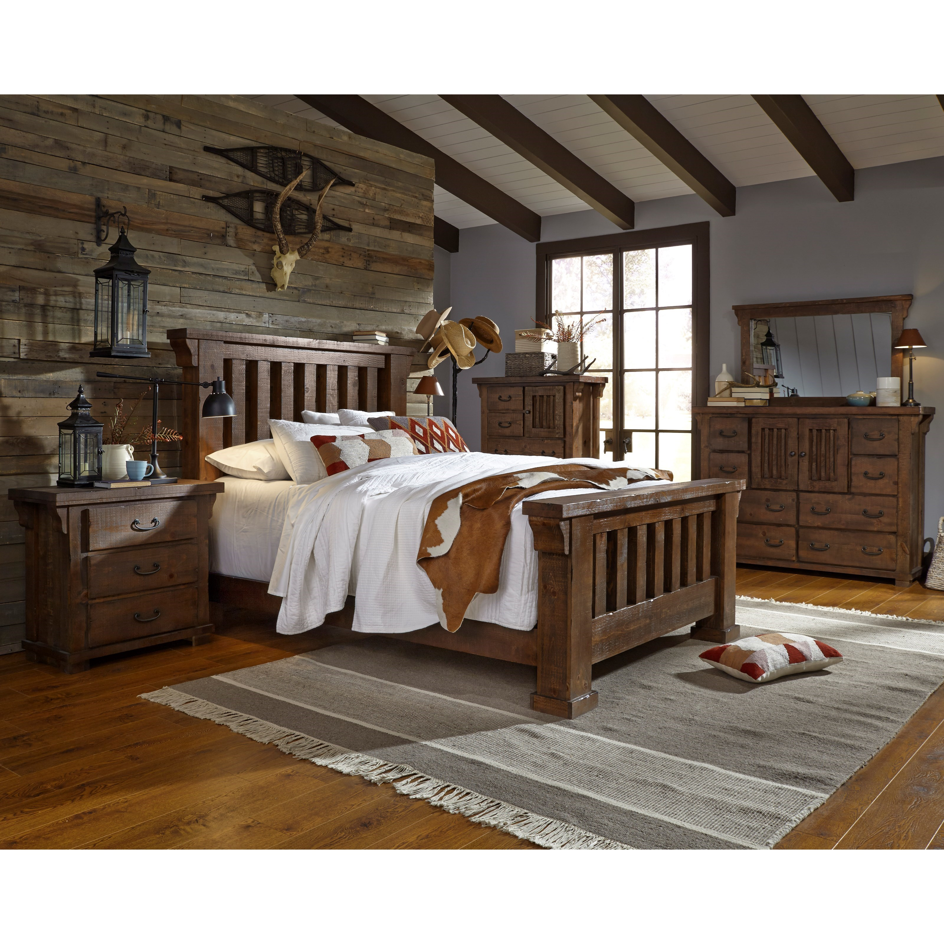 Progressive furniture forrester queen bedroom group for Bedroom furniture groups