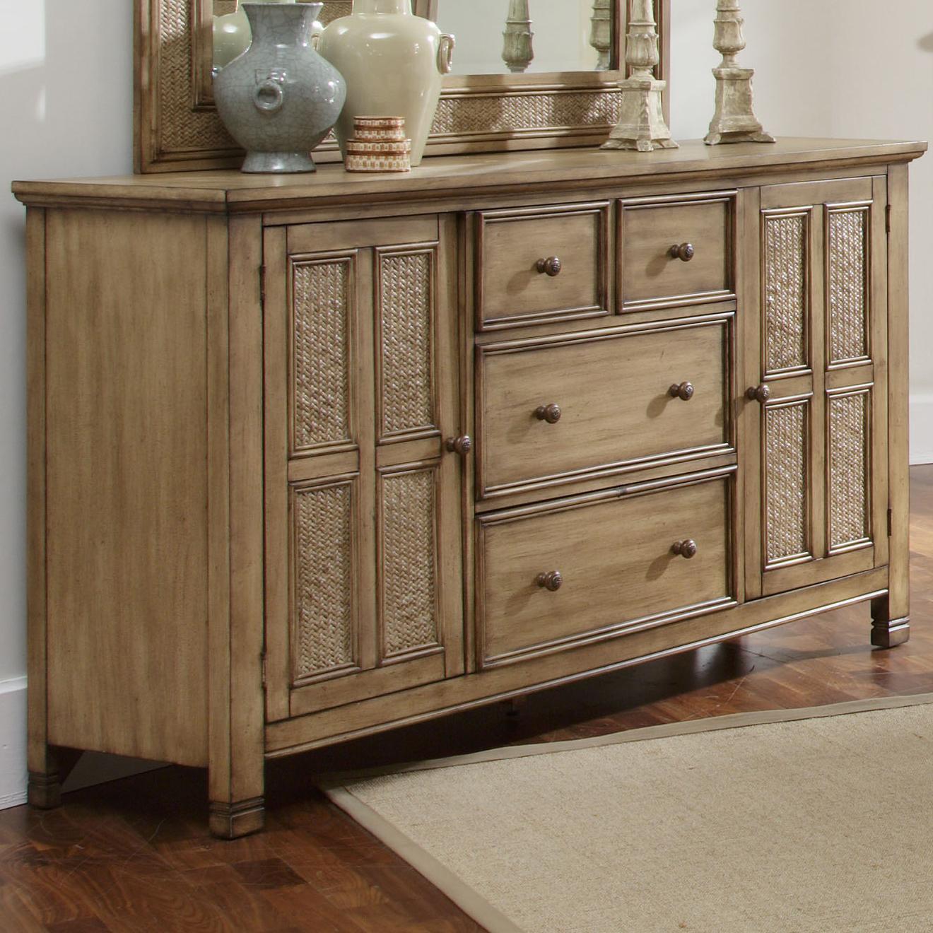 Progressive furniture kingston isle p196 24 2 door dresser for Furniture kingston