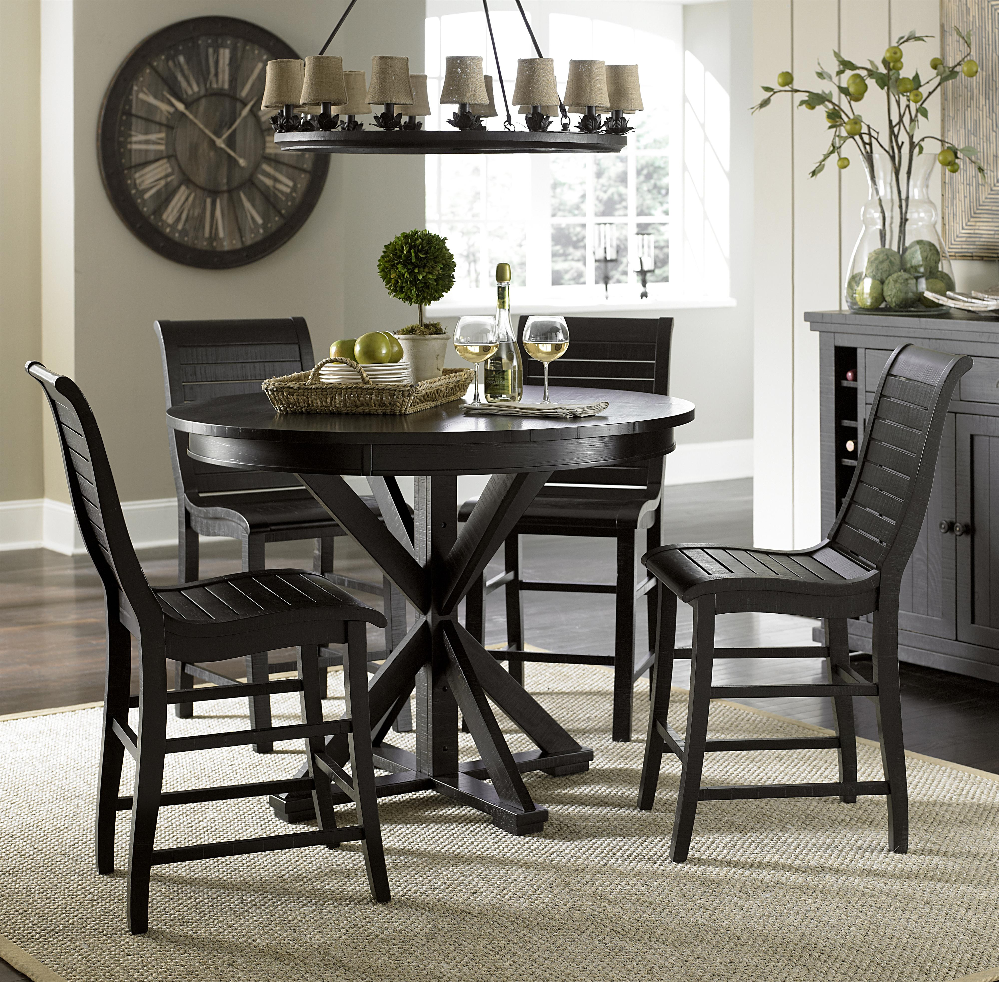 Progressive furniture willow dining 5 piece round counter for Hudsons furniture